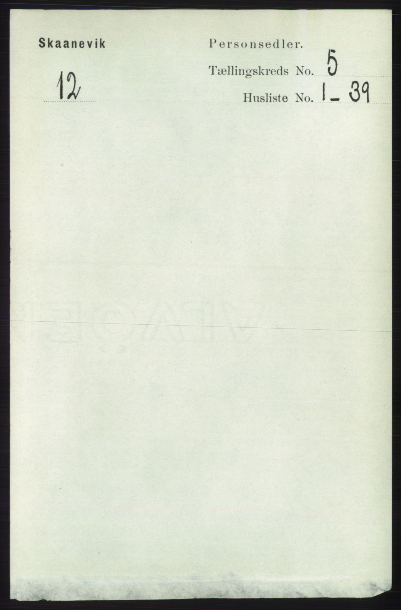 RA, Folketelling 1891 for 1212 Skånevik herred, 1891, s. 1260