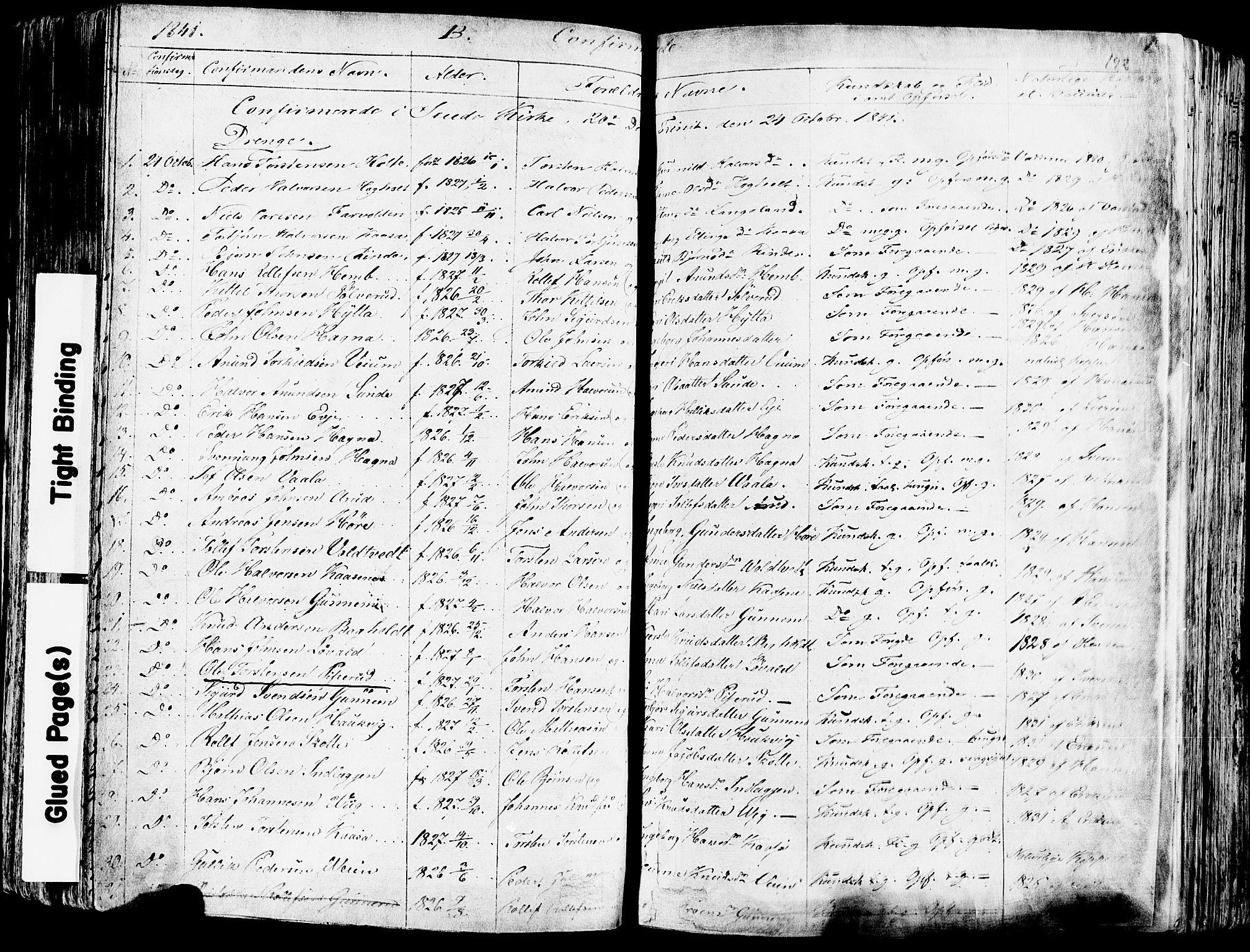 SAKO, Sauherad kirkebøker, F/Fa/L0006: Ministerialbok nr. I 6, 1827-1850, s. 192
