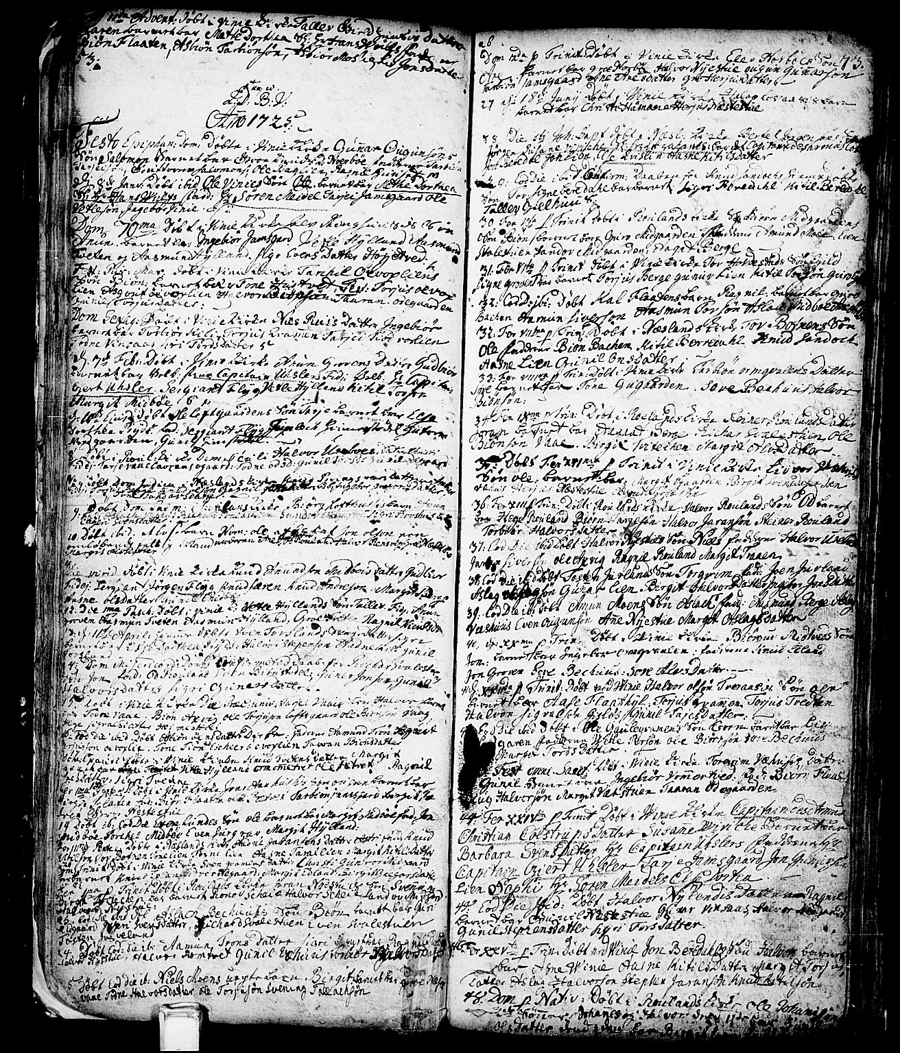 SAKO, Vinje kirkebøker, F/Fa/L0001: Ministerialbok nr. I 1, 1717-1766, s. 73