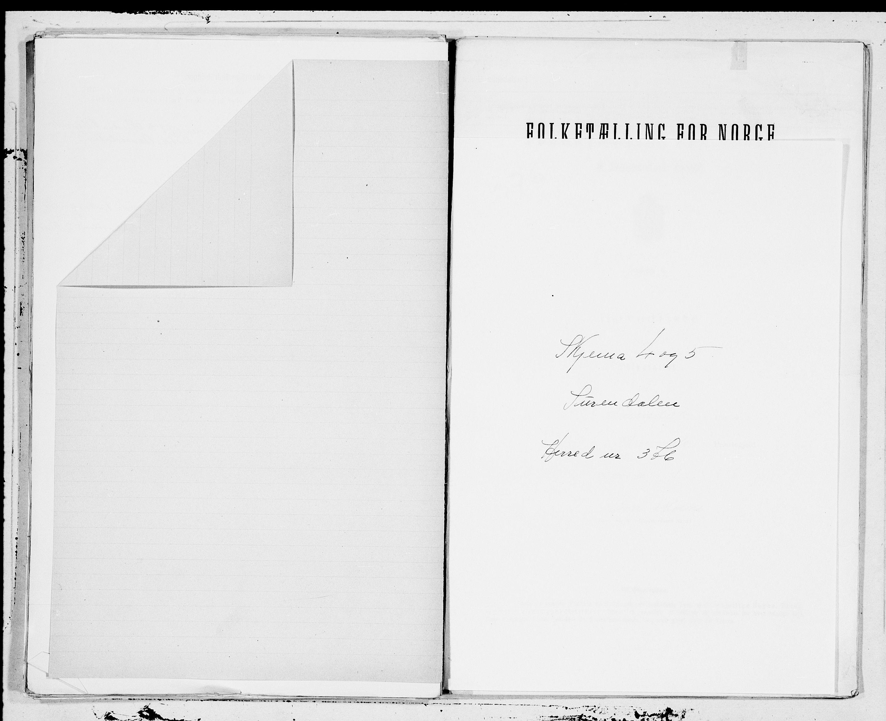 SAT, Folketelling 1900 for 1566 Surnadal herred, 1900, s. 1