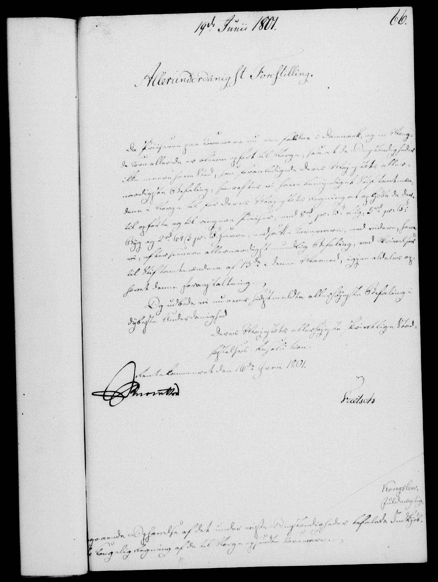 RA, Rentekammeret, Kammerkanselliet, G/Gf/Gfa/L0083: Norsk relasjons- og resolusjonsprotokoll (merket RK 52.83), 1801, s. 396