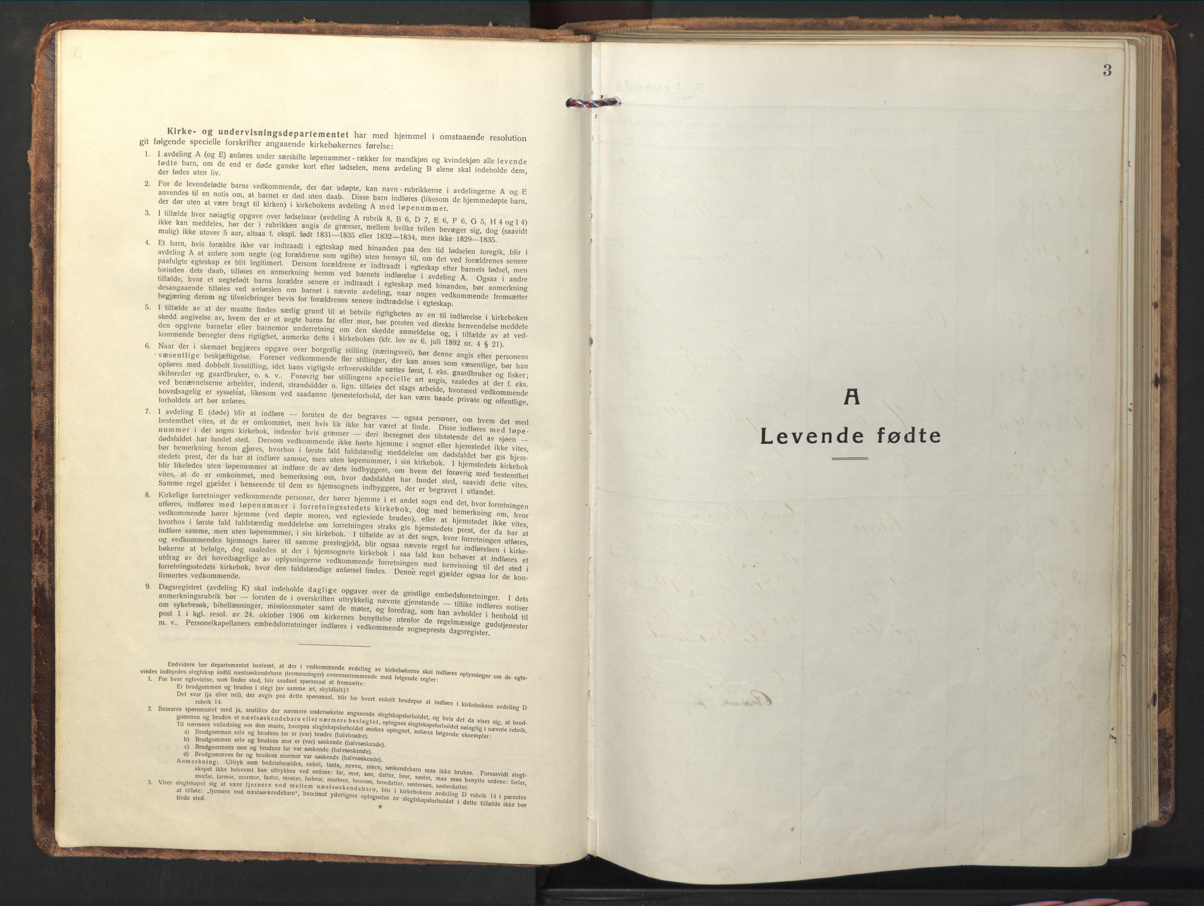 SAT, Ministerialprotokoller, klokkerbøker og fødselsregistre - Nord-Trøndelag, 714/L0136: Klokkerbok nr. 714C05, 1918-1957, s. 3