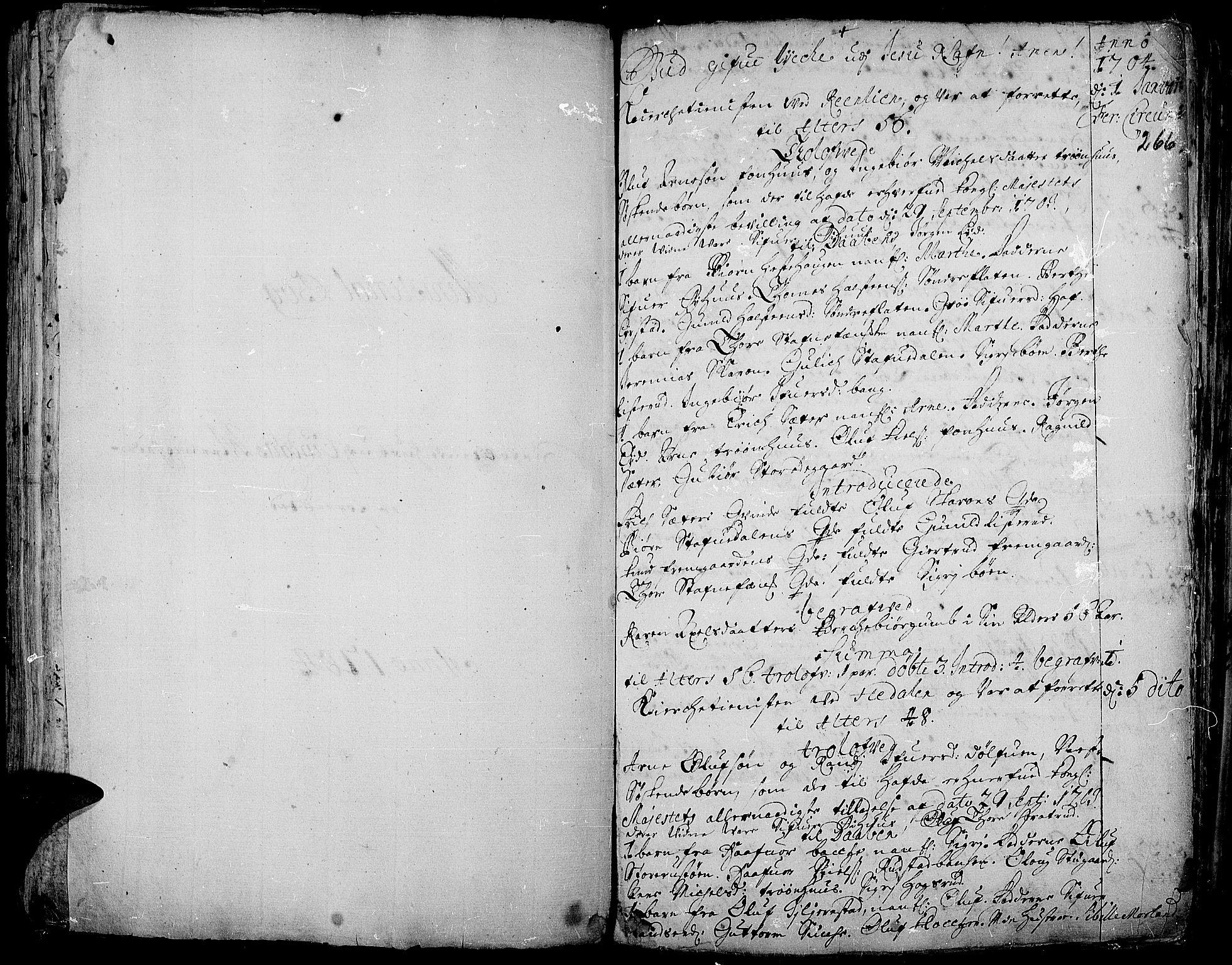 SAH, Aurdal prestekontor, Ministerialbok nr. 1-3, 1692-1730, s. 266