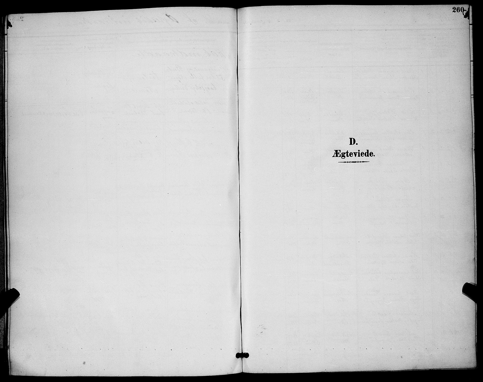 SAKO, Skien kirkebøker, G/Ga/L0007: Klokkerbok nr. 7, 1891-1900, s. 260