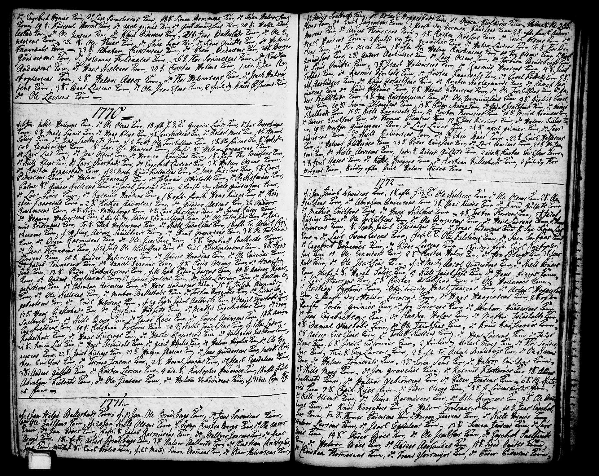 SAKO, Gjerpen kirkebøker, F/Fa/L0002: Ministerialbok nr. 2, 1747-1795, s. 255