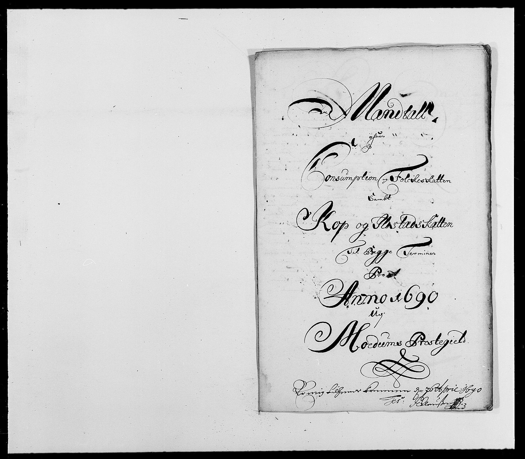 RA, Rentekammeret inntil 1814, Reviderte regnskaper, Fogderegnskap, R25/L1680: Fogderegnskap Buskerud, 1689-1690, s. 443