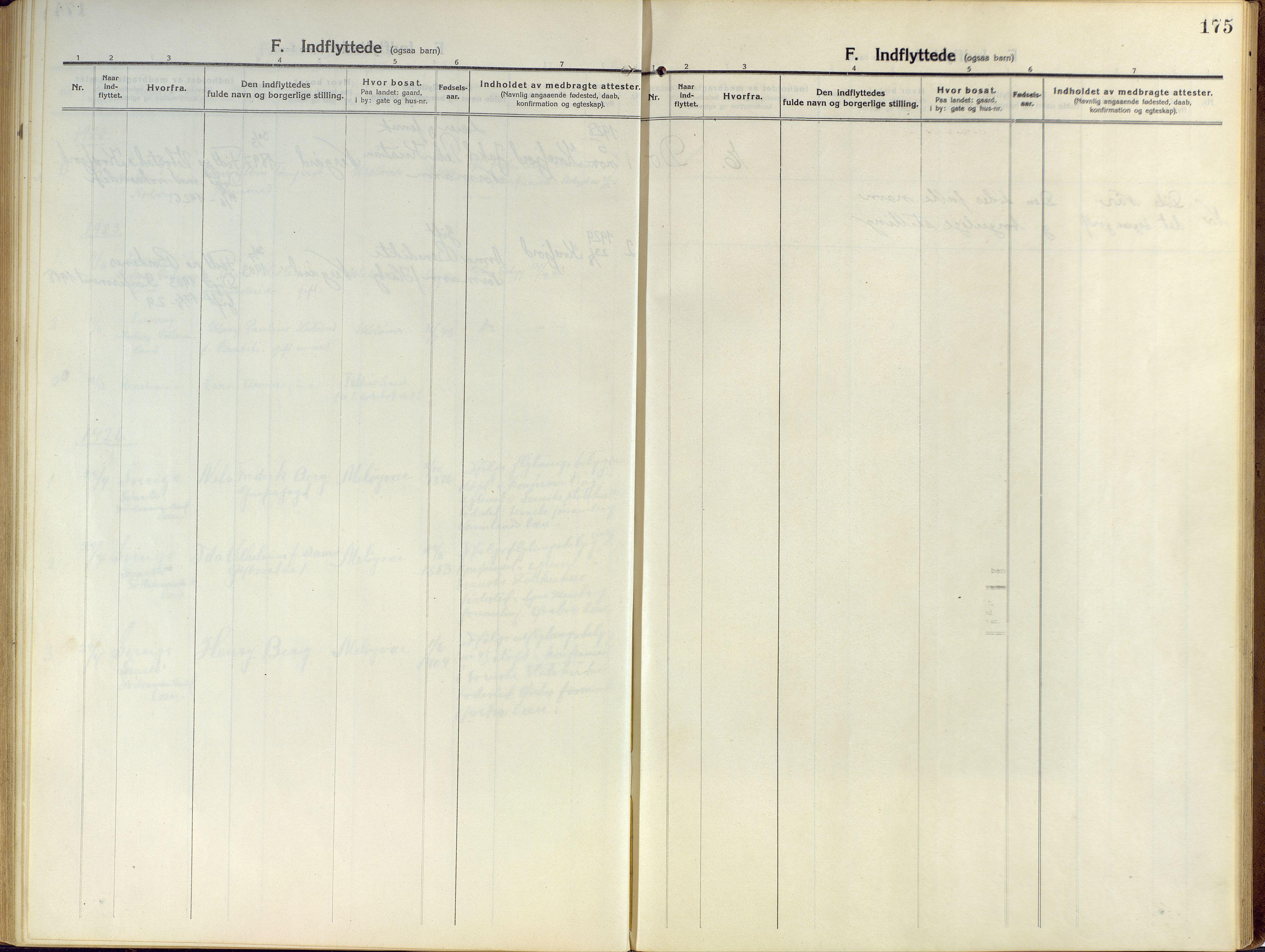 SATØ, Sand/Bjarkøy sokneprestkontor, I/Ia/Iaa/L0006kirke: Ministerialbok nr. 6, 1915-1929, s. 175