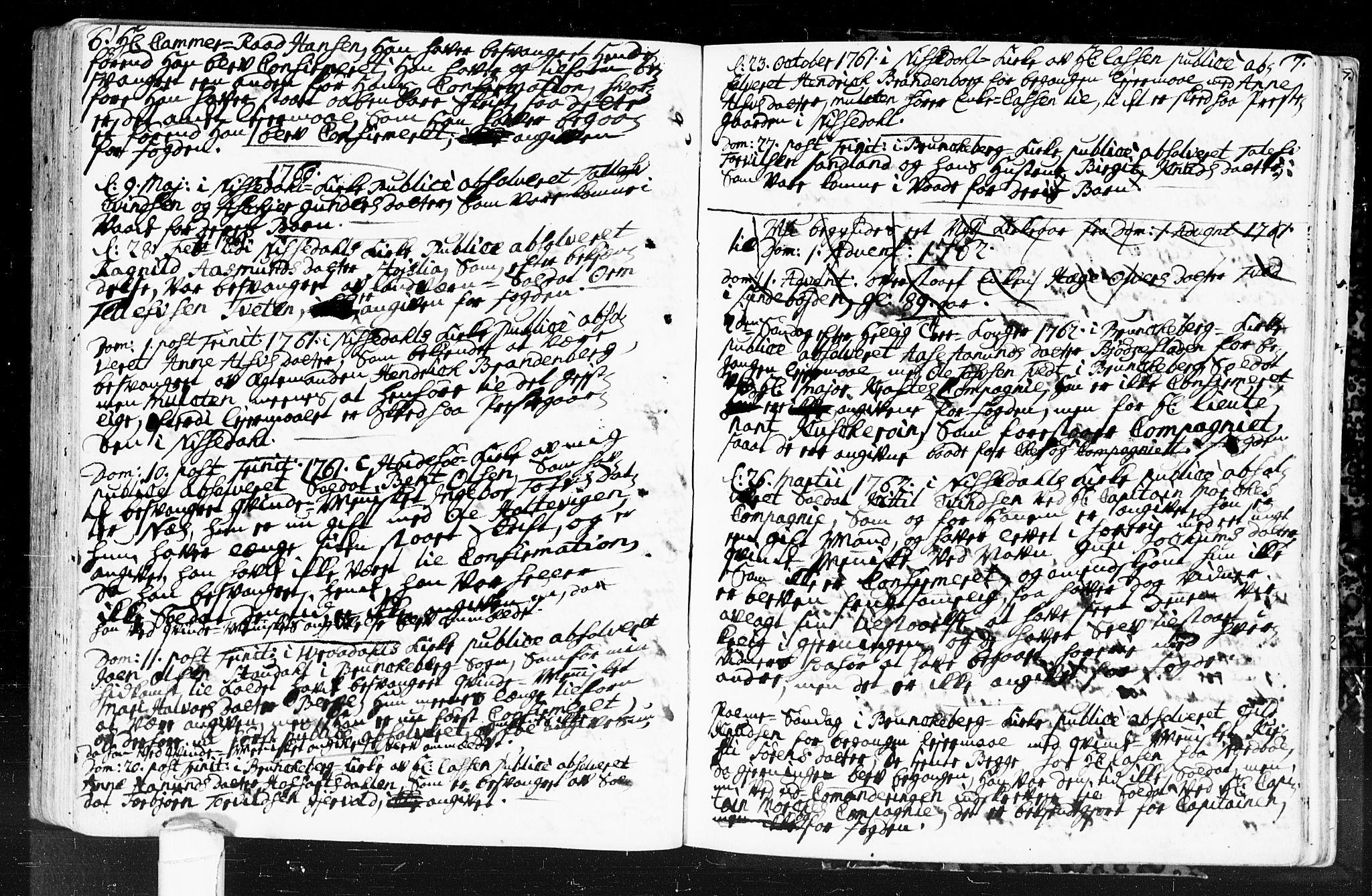 SAKO, Kviteseid kirkebøker, F/Fa/L0001: Ministerialbok nr. I 1, 1754-1773, s. 6-7