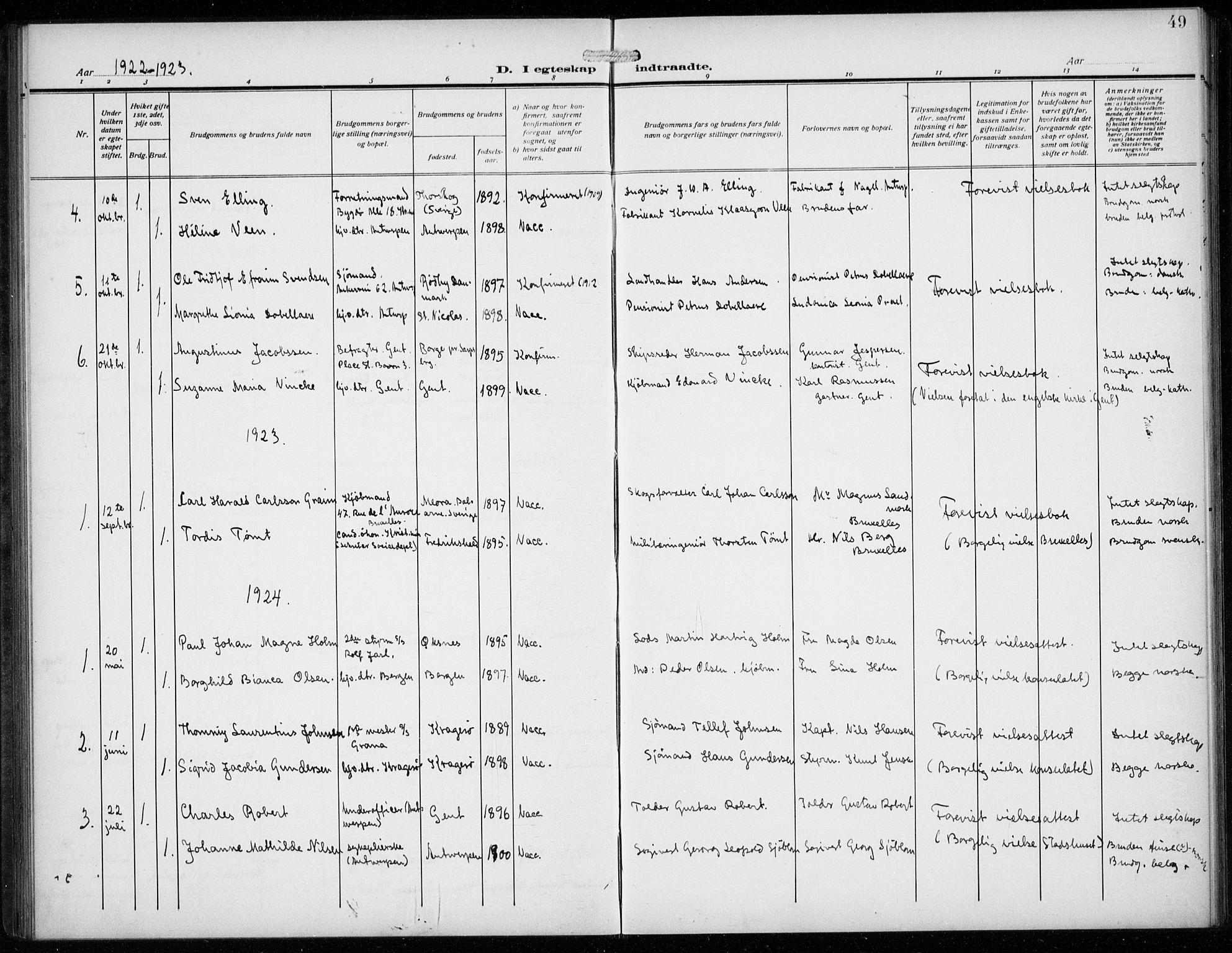 SAB, Den Norske Sjømannsmisjon i utlandet*, Ministerialbok nr. A 3, 1914-1930, s. 49