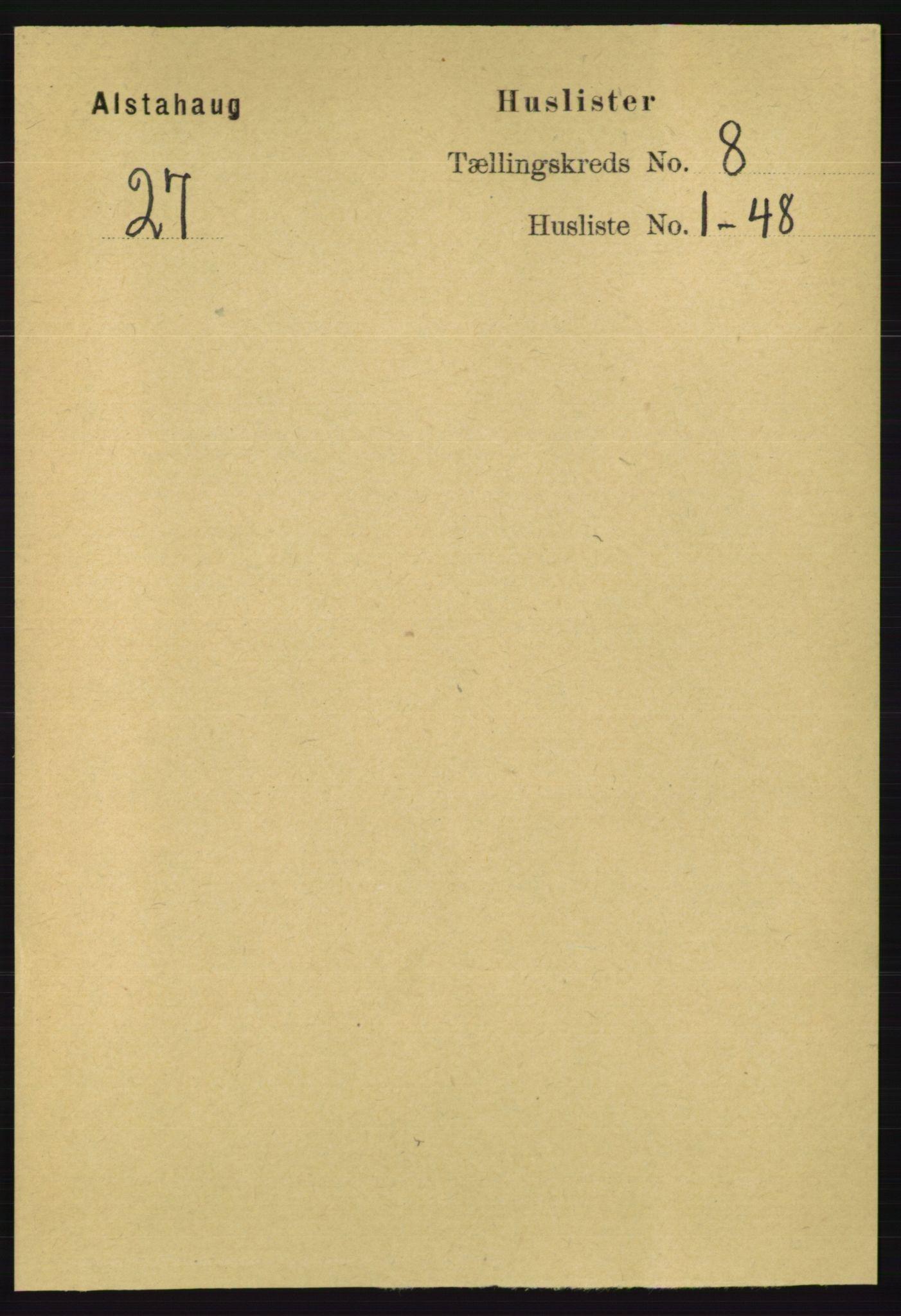 RA, Folketelling 1891 for 1820 Alstahaug herred, 1891, s. 2854