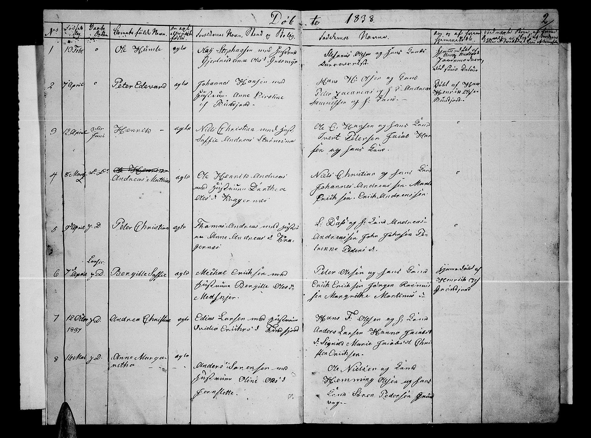 SATØ, Lenvik sokneprestembete, H/Ha: Klokkerbok nr. 2, 1838-1843, s. 2