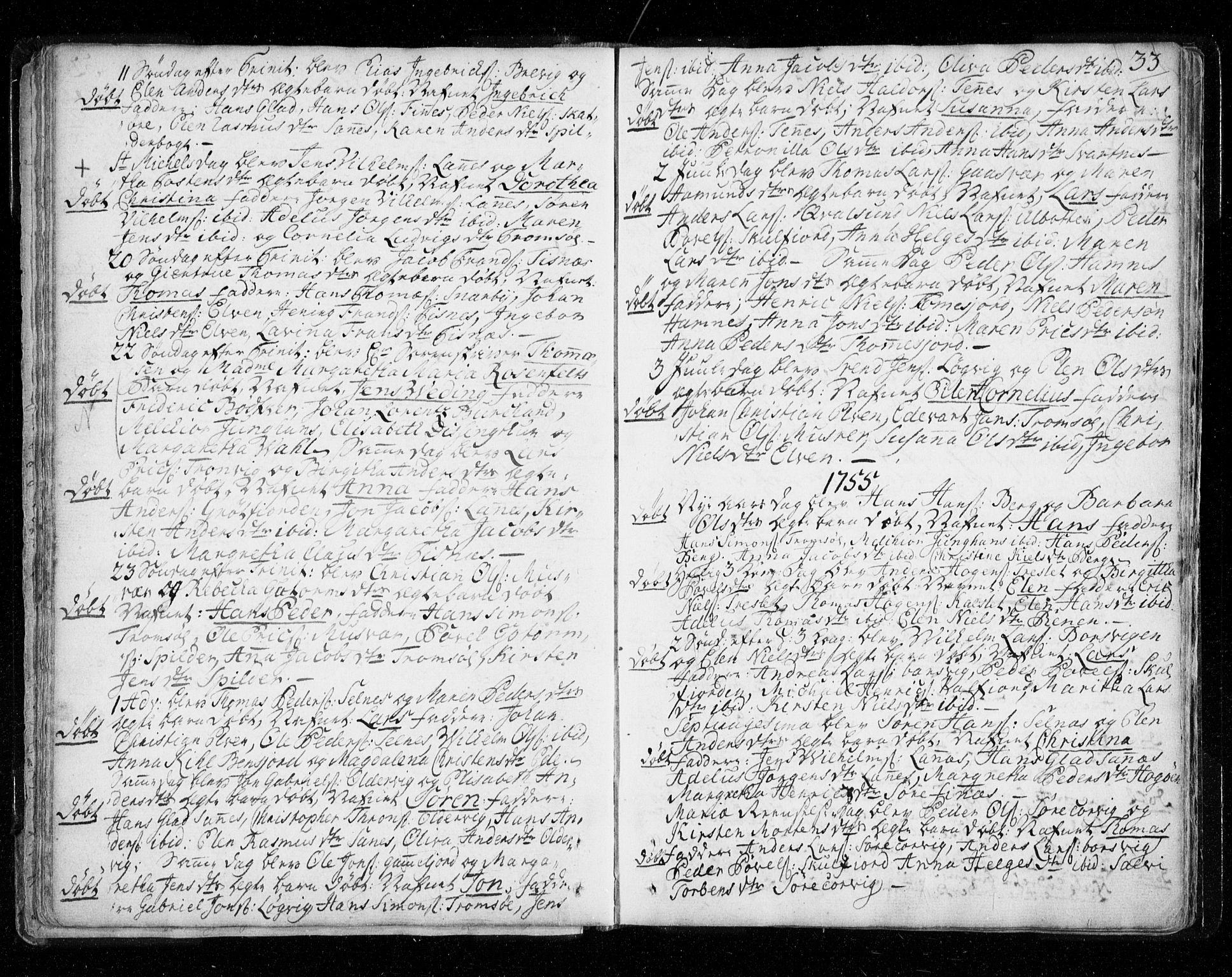 SATØ, Tromsø sokneprestkontor/stiftsprosti/domprosti, G/Ga/L0002kirke: Ministerialbok nr. 2, 1753-1778, s. 33