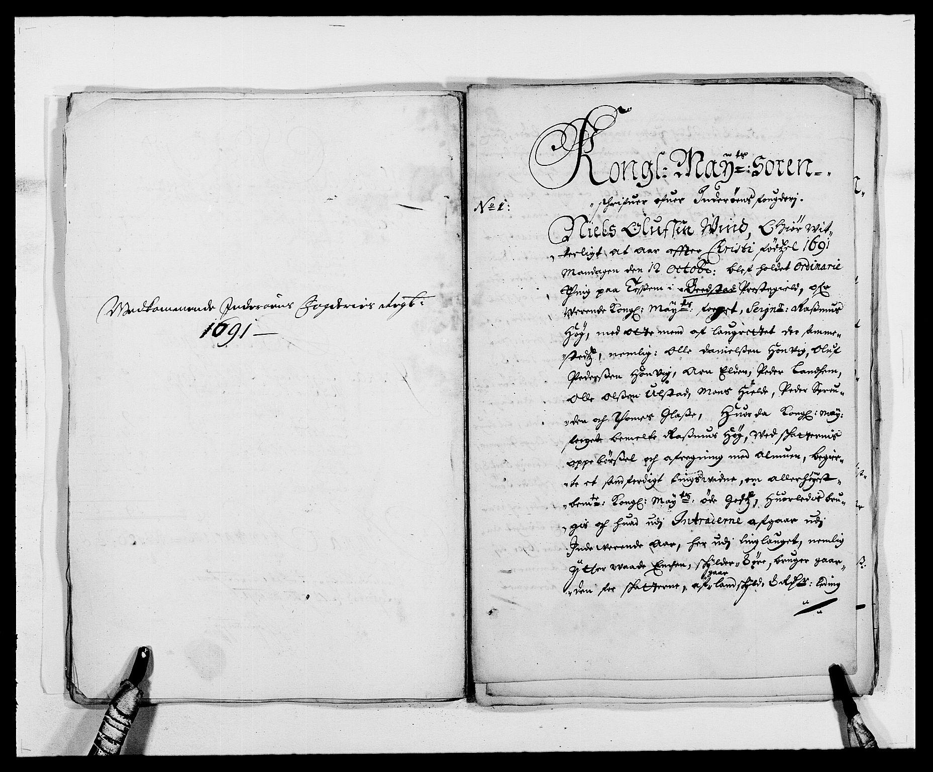 RA, Rentekammeret inntil 1814, Reviderte regnskaper, Fogderegnskap, R63/L4307: Fogderegnskap Inderøy, 1690-1691, s. 438