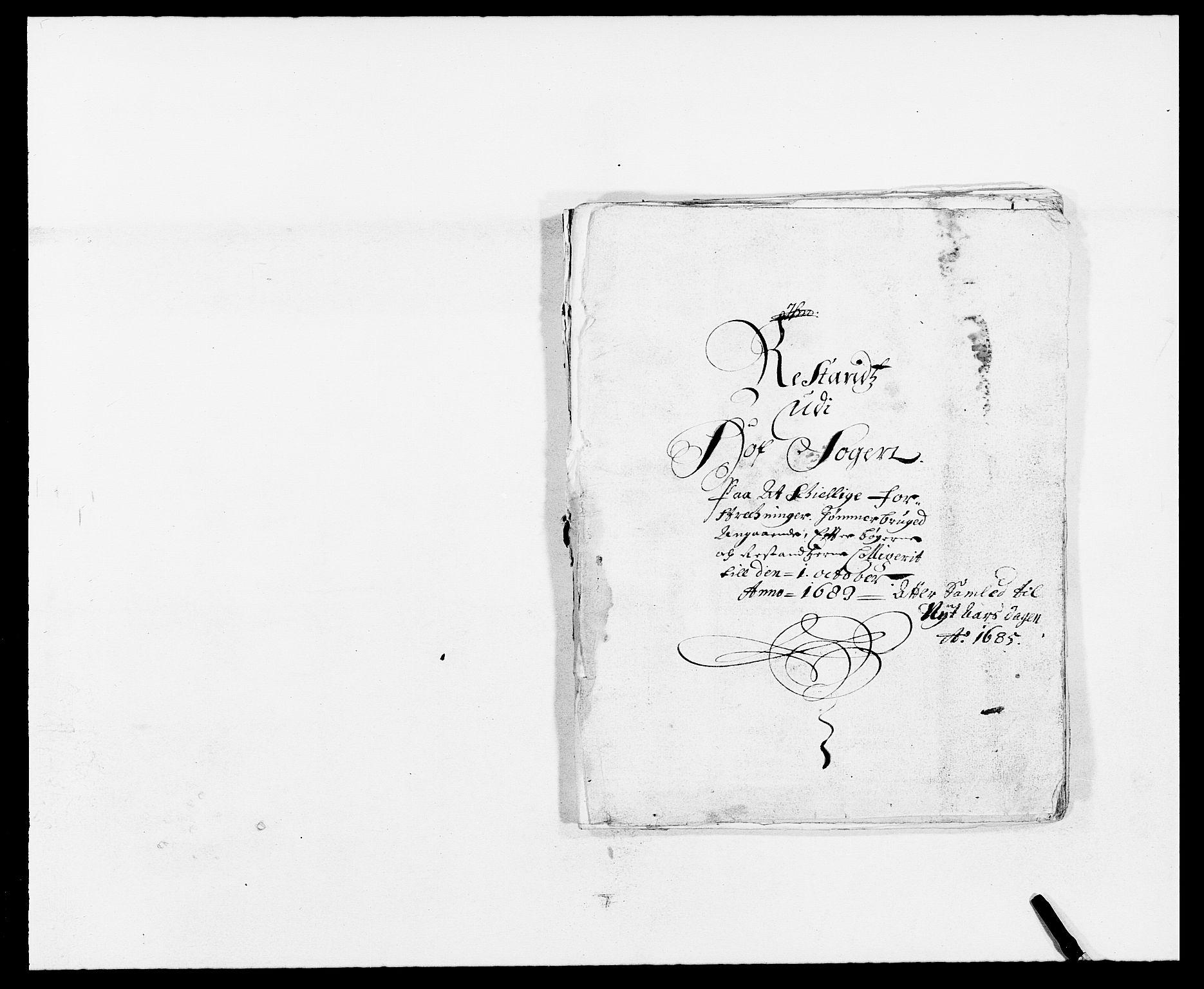 RA, Rentekammeret inntil 1814, Reviderte regnskaper, Fogderegnskap, R13/L0822: Fogderegnskap Solør, Odal og Østerdal, 1685, s. 263