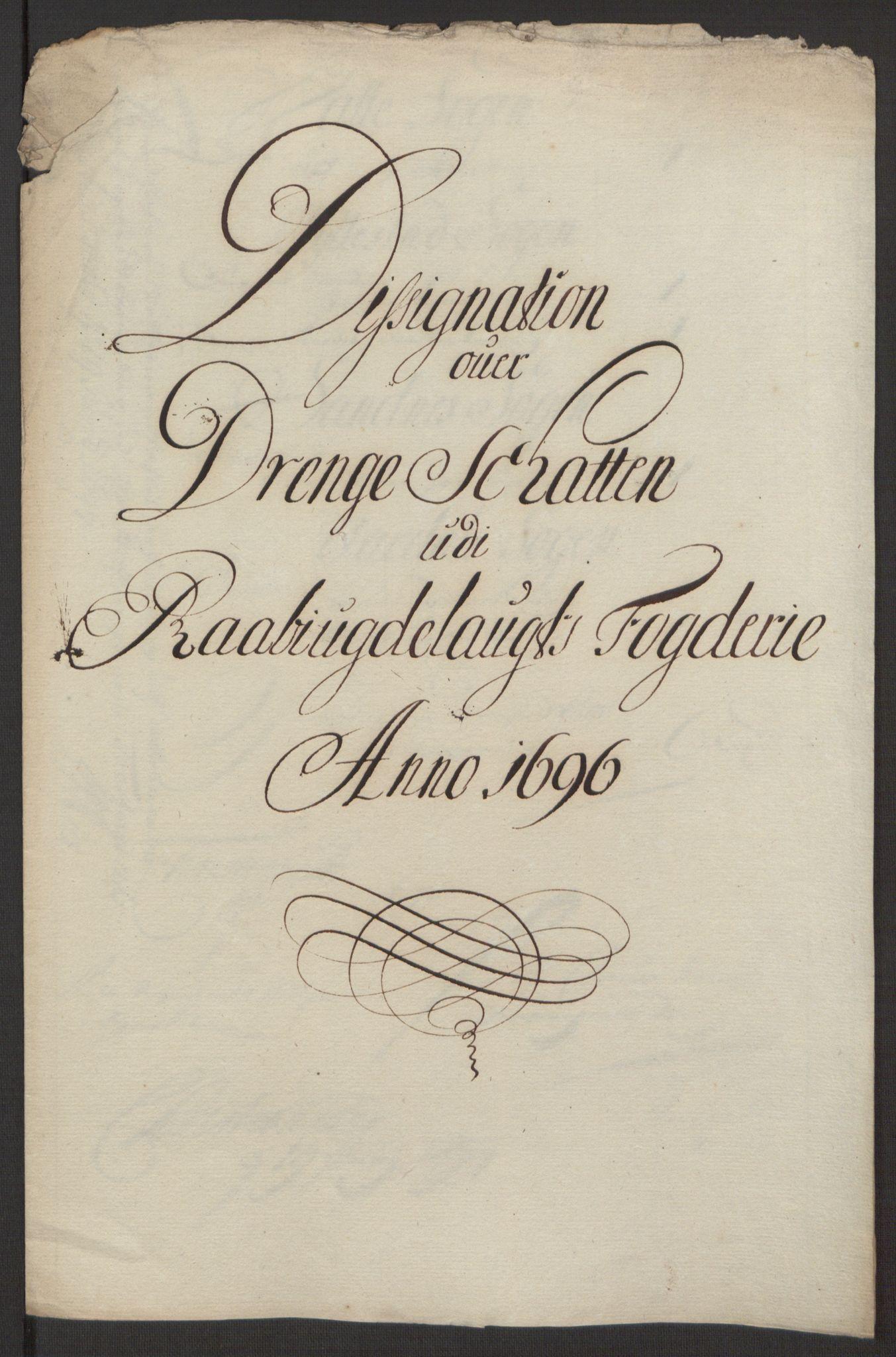 RA, Rentekammeret inntil 1814, Reviderte regnskaper, Fogderegnskap, R40/L2444: Fogderegnskap Råbyggelag, 1693-1696, s. 318