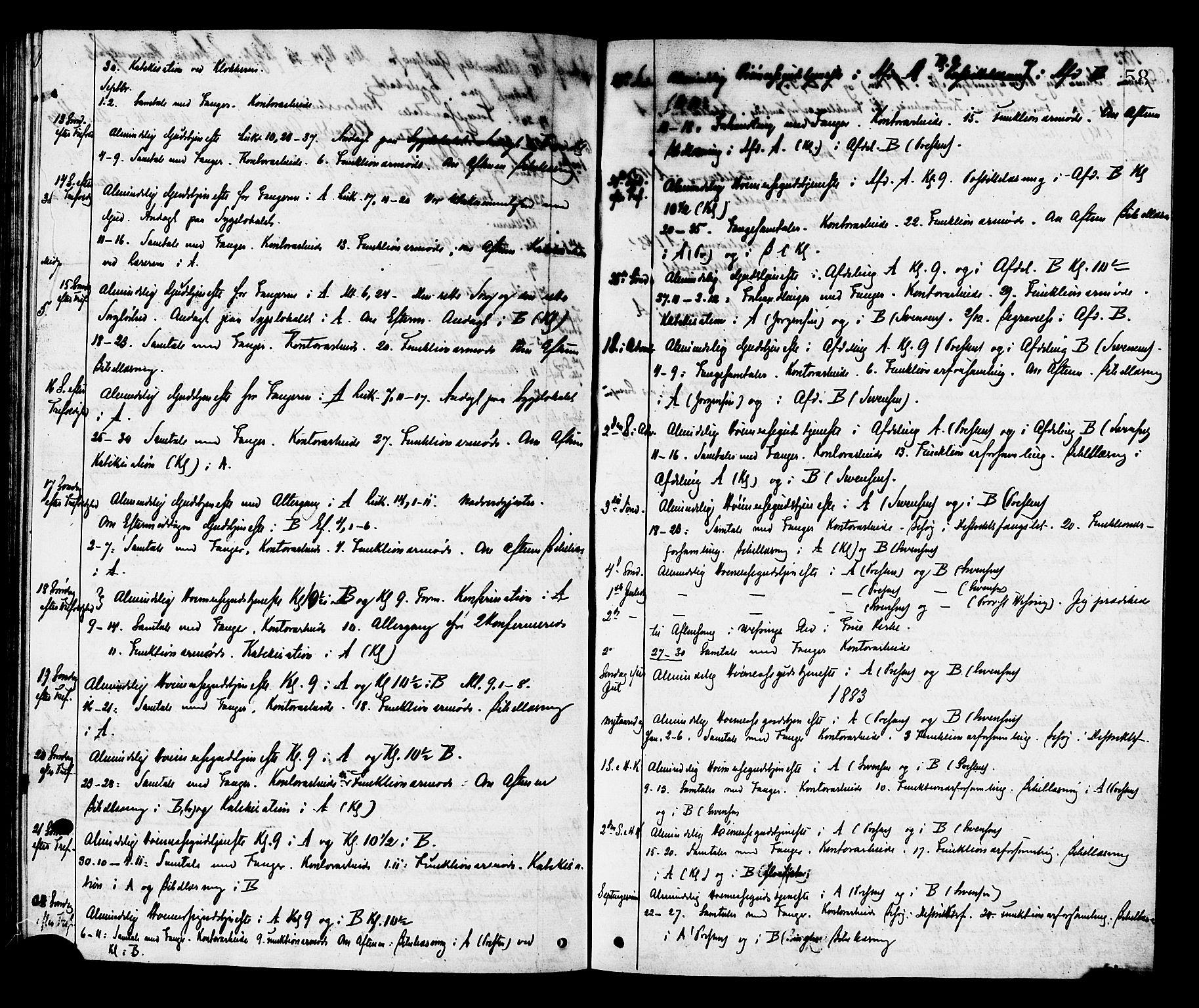 SAT, Ministerialprotokoller, klokkerbøker og fødselsregistre - Sør-Trøndelag, 624/L0482: Ministerialbok nr. 624A03, 1870-1918, s. 58