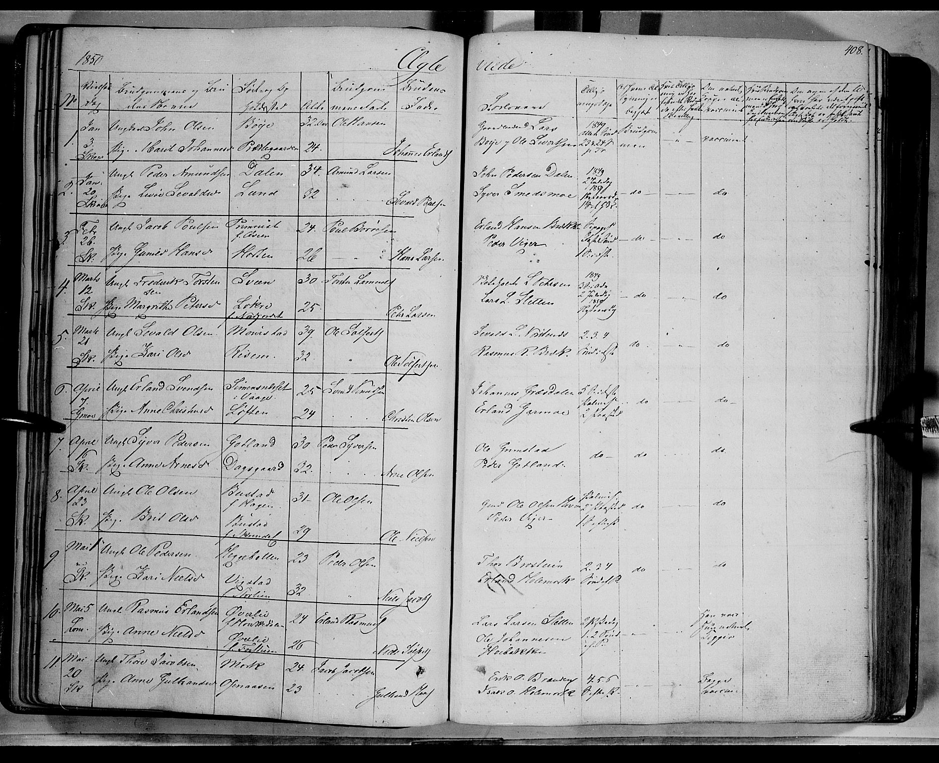 SAH, Lom prestekontor, K/L0006: Ministerialbok nr. 6B, 1837-1863, s. 408