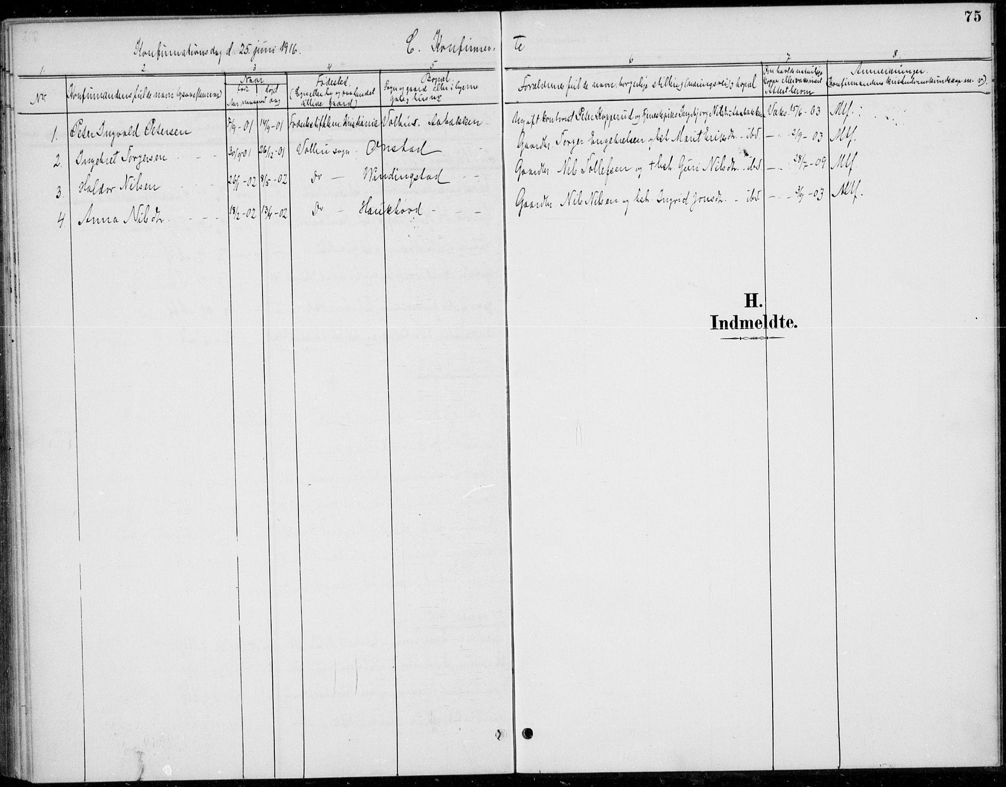 SAH, Øystre Slidre prestekontor, Ministerialbok nr. 5, 1887-1916, s. 75