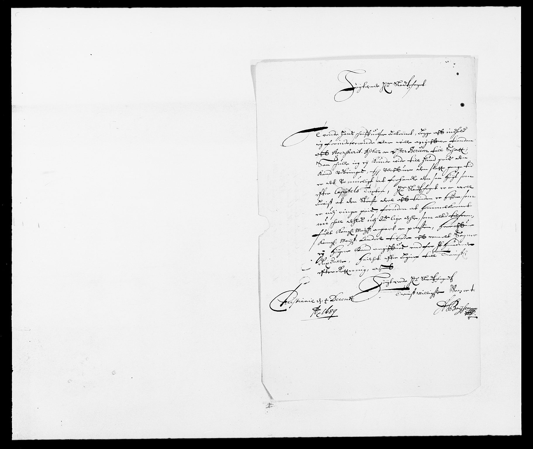 RA, Rentekammeret inntil 1814, Reviderte regnskaper, Fogderegnskap, R08/L0423: Fogderegnskap Aker, 1687-1689, s. 27