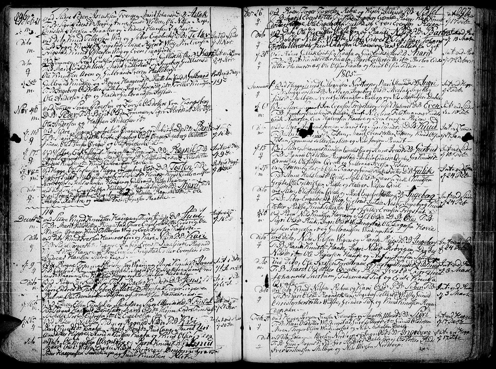 SAH, Slidre prestekontor, Ministerialbok nr. 1, 1724-1814, s. 896-897