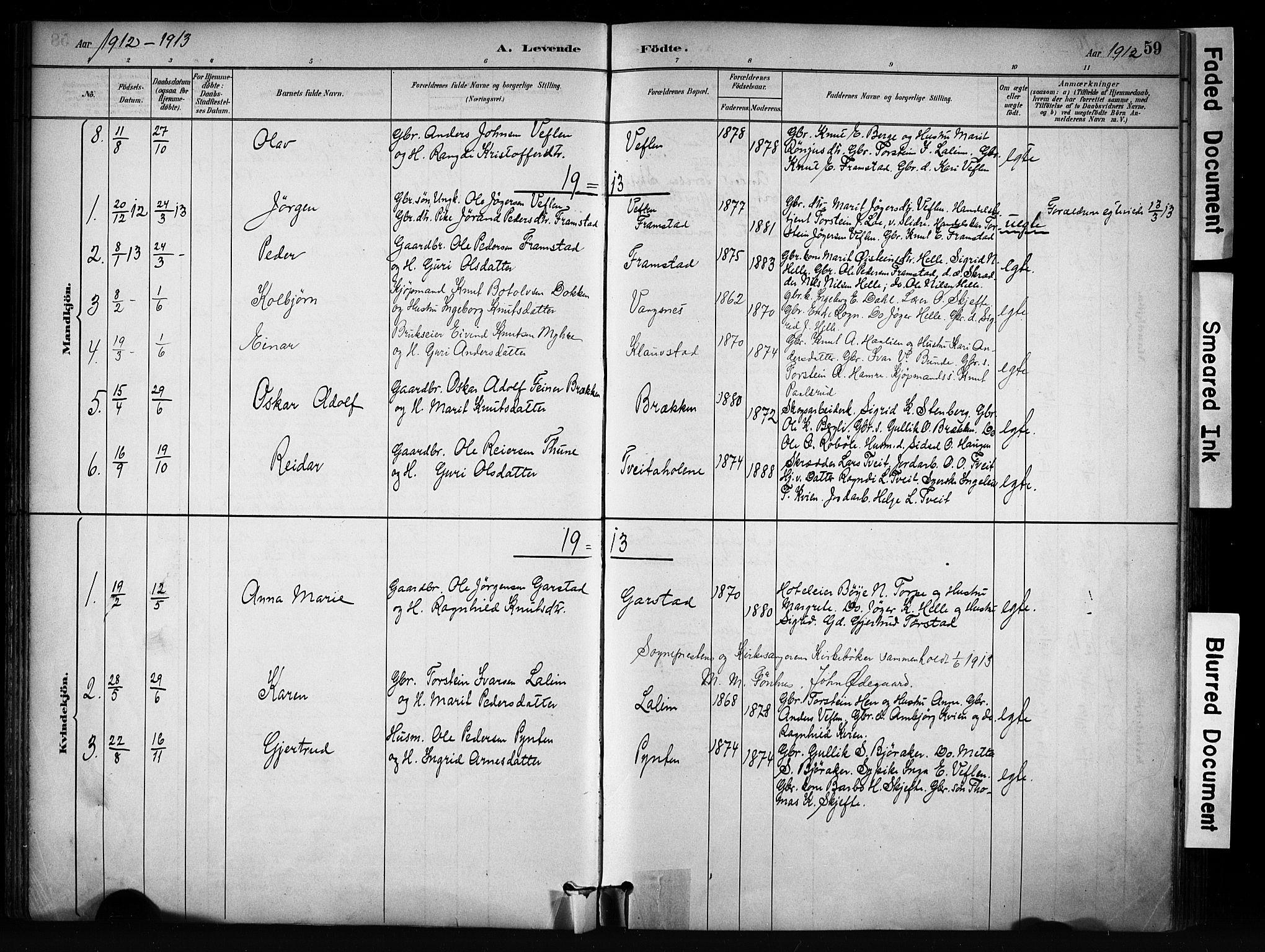 SAH, Vang prestekontor, Valdres, Ministerialbok nr. 9, 1882-1914, s. 59
