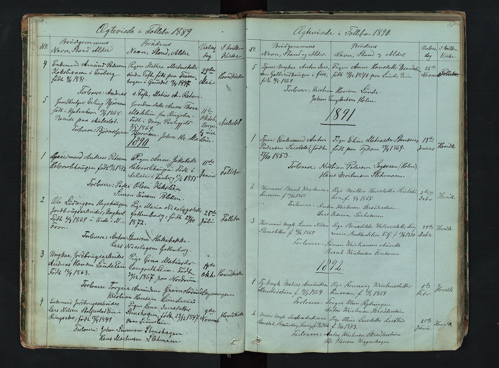 SAH, Gausdal prestekontor, Klokkerbok nr. 6, 1846-1893, s. 34-35