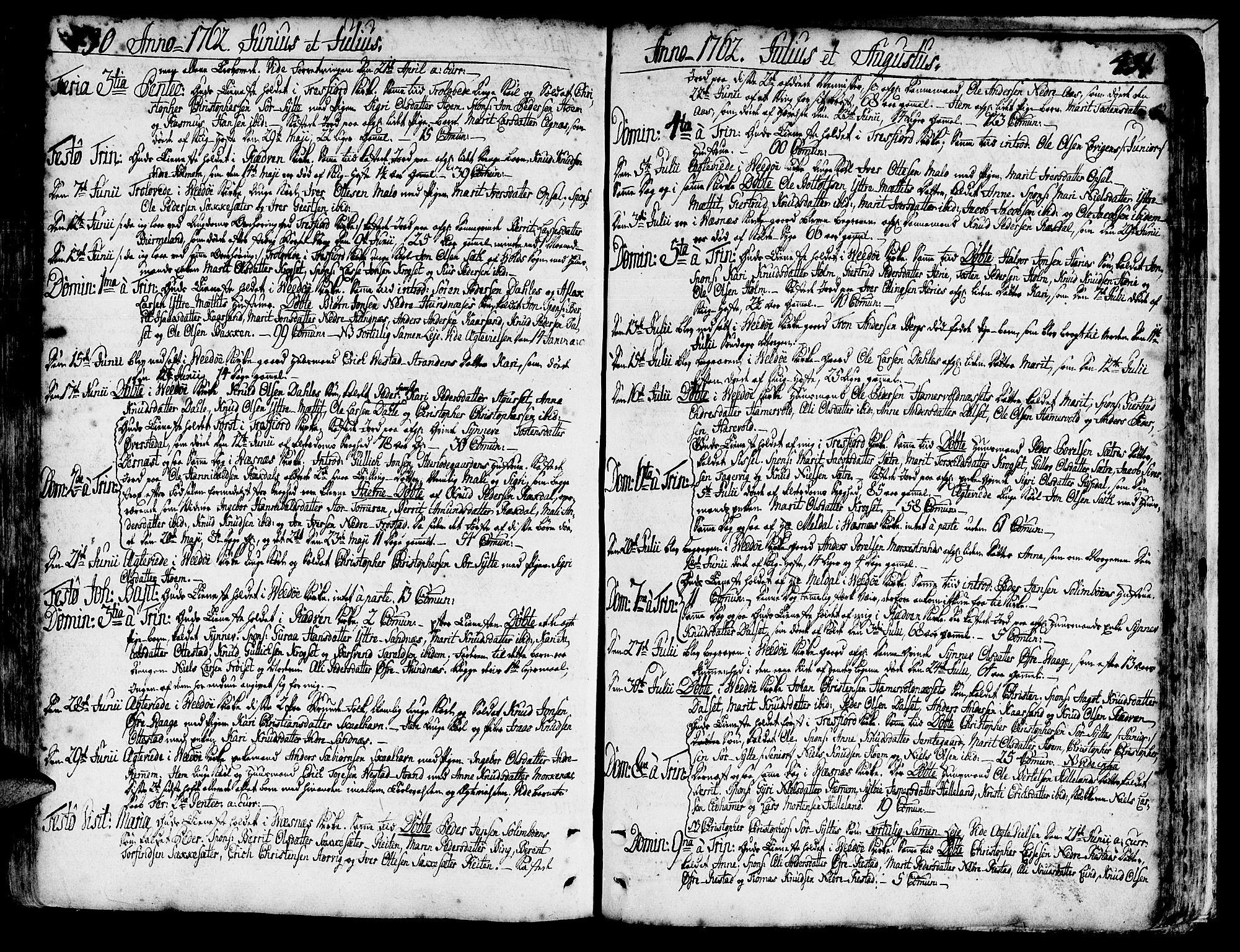 SAT, Ministerialprotokoller, klokkerbøker og fødselsregistre - Møre og Romsdal, 547/L0599: Ministerialbok nr. 547A01, 1721-1764, s. 490-491