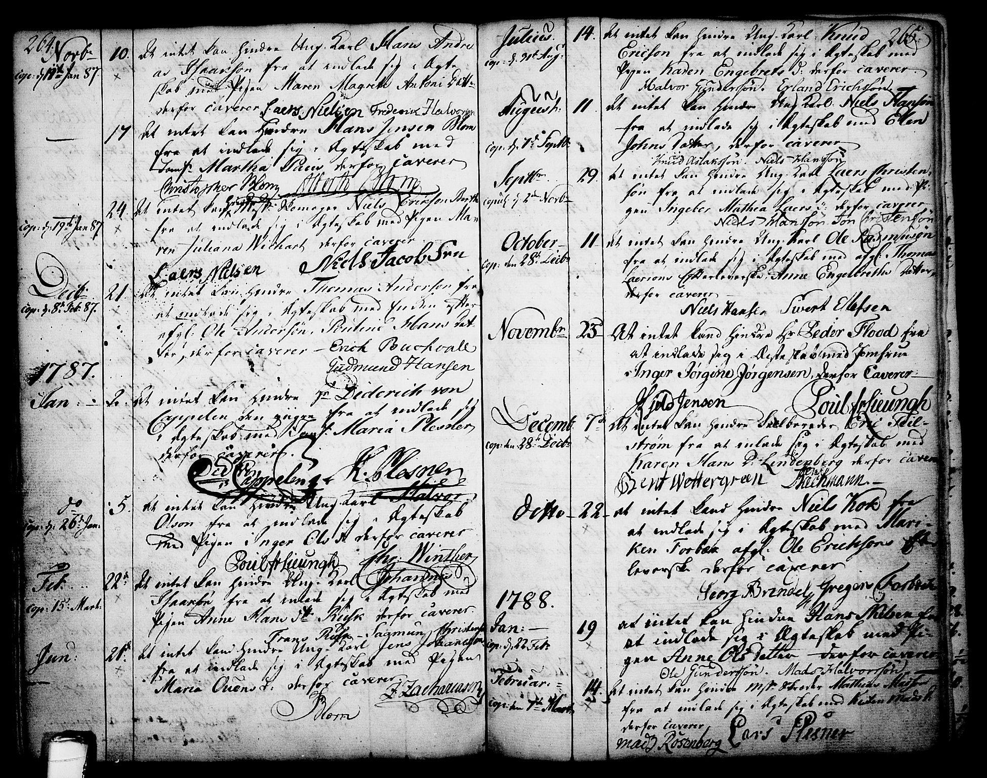 SAKO, Skien kirkebøker, F/Fa/L0003: Ministerialbok nr. 3, 1755-1791, s. 264-265
