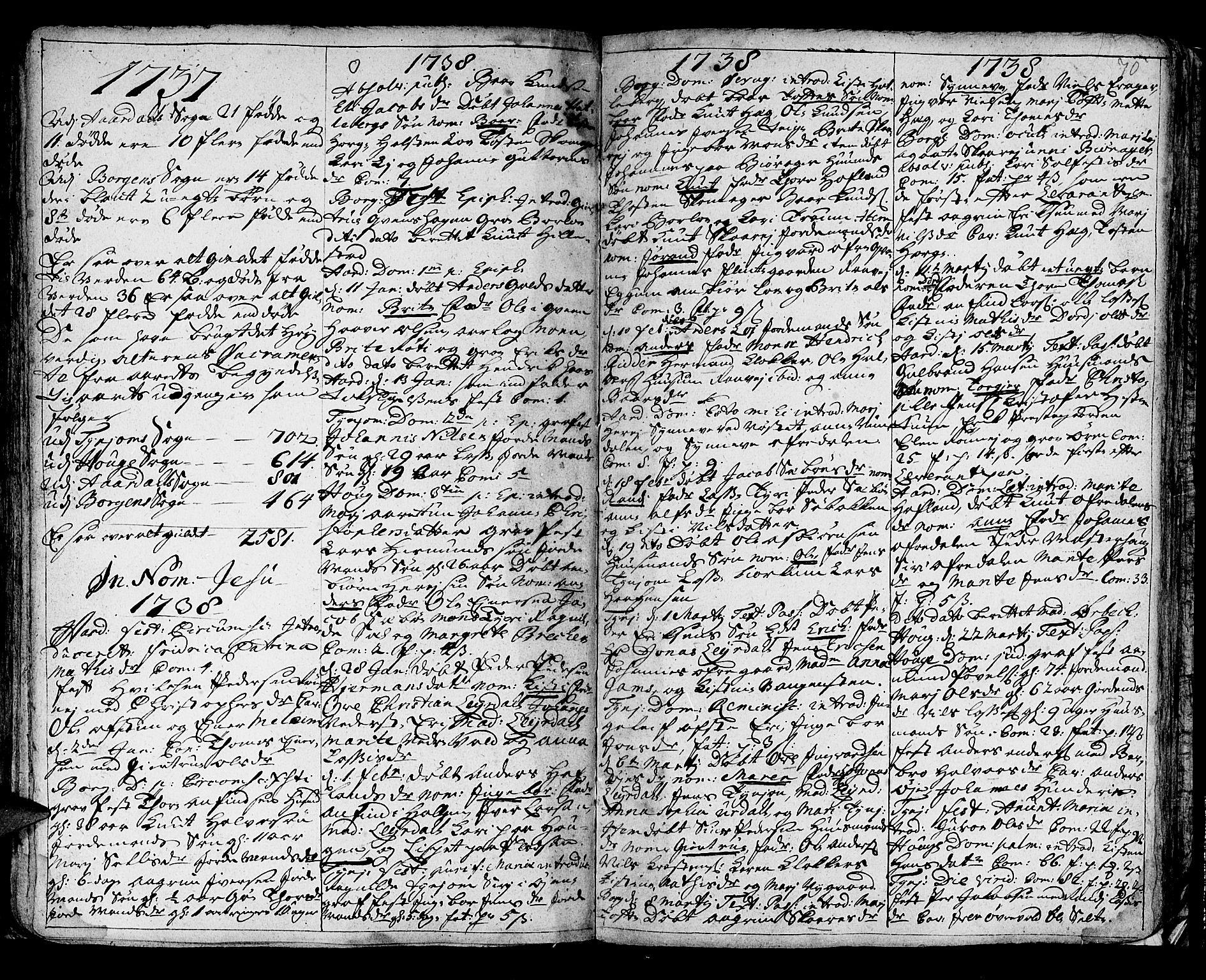 SAB, Lærdal sokneprestembete, Ministerialbok nr. A 1, 1711-1752, s. 70