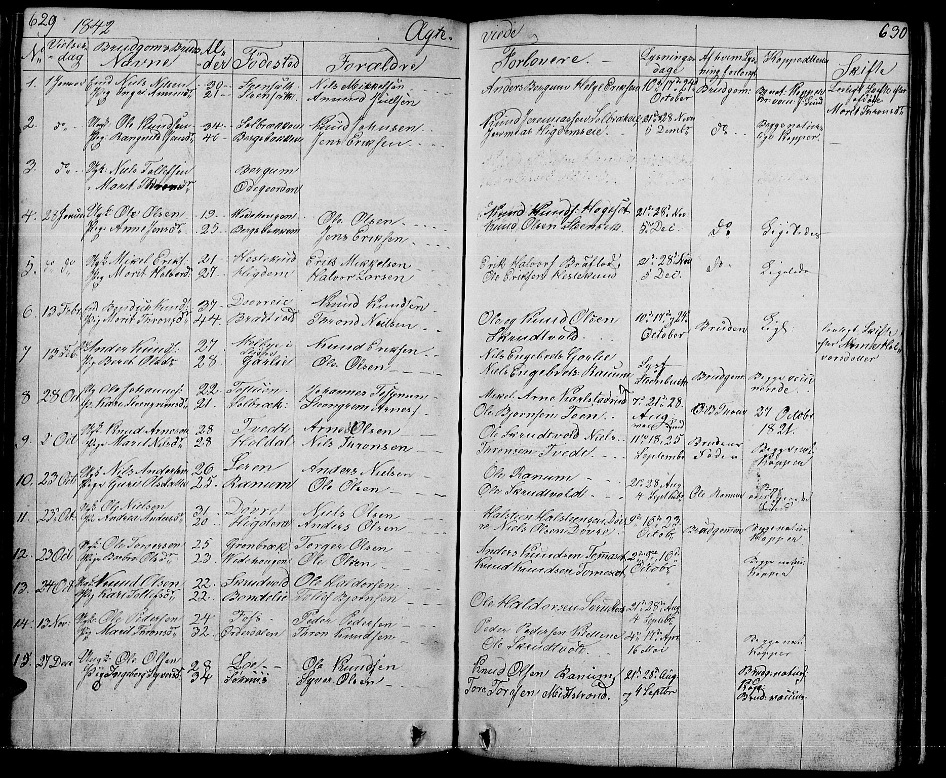SAH, Nord-Aurdal prestekontor, Klokkerbok nr. 1, 1834-1887, s. 629-630