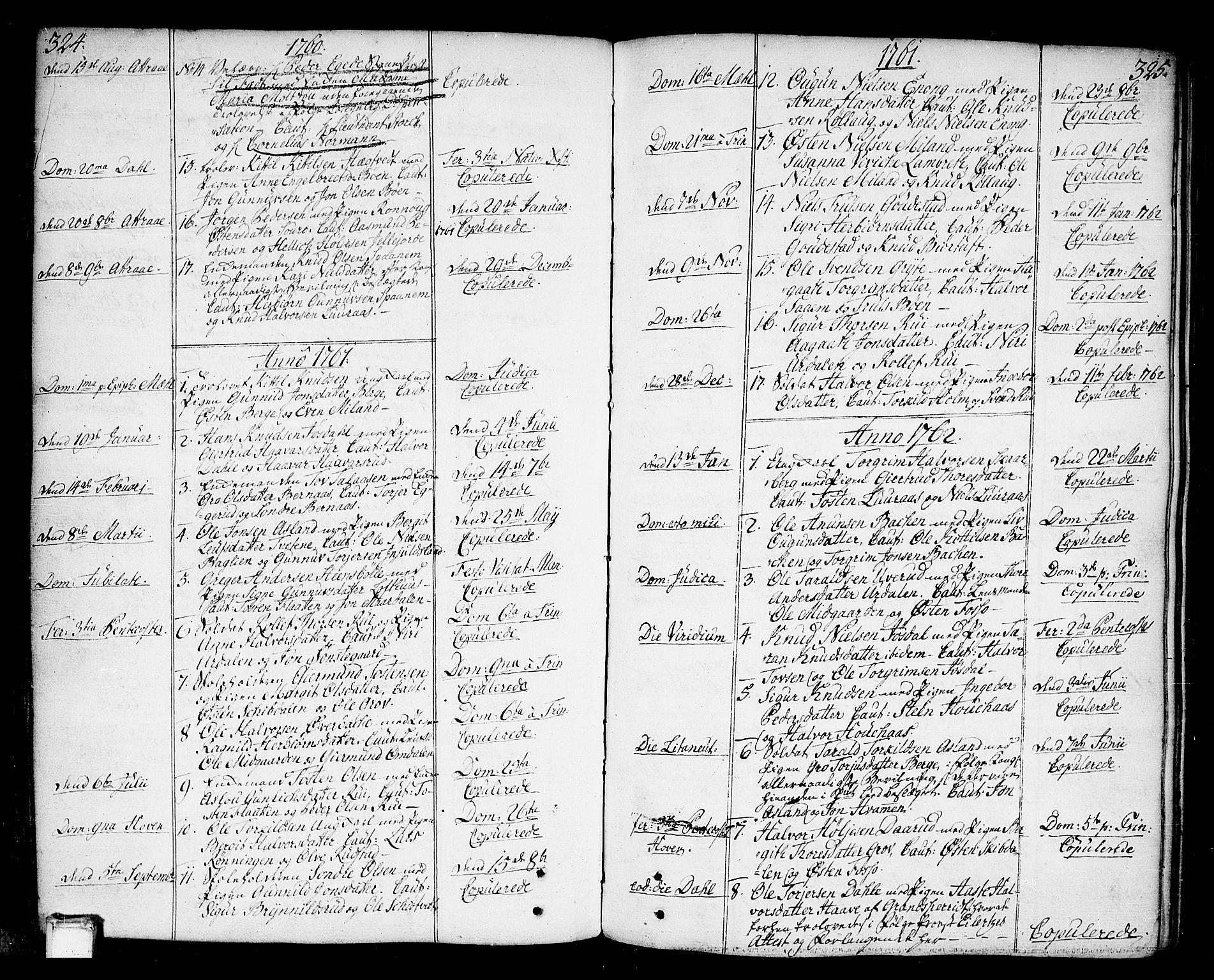 SAKO, Tinn kirkebøker, F/Fa/L0002: Ministerialbok nr. I 2, 1757-1810, s. 324-325