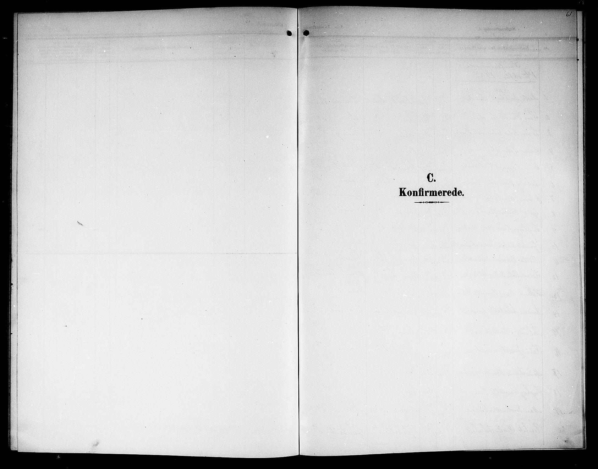 SAKO, Lunde kirkebøker, G/Ga/L0004: Klokkerbok nr. I 4, 1906-1914, s. 61