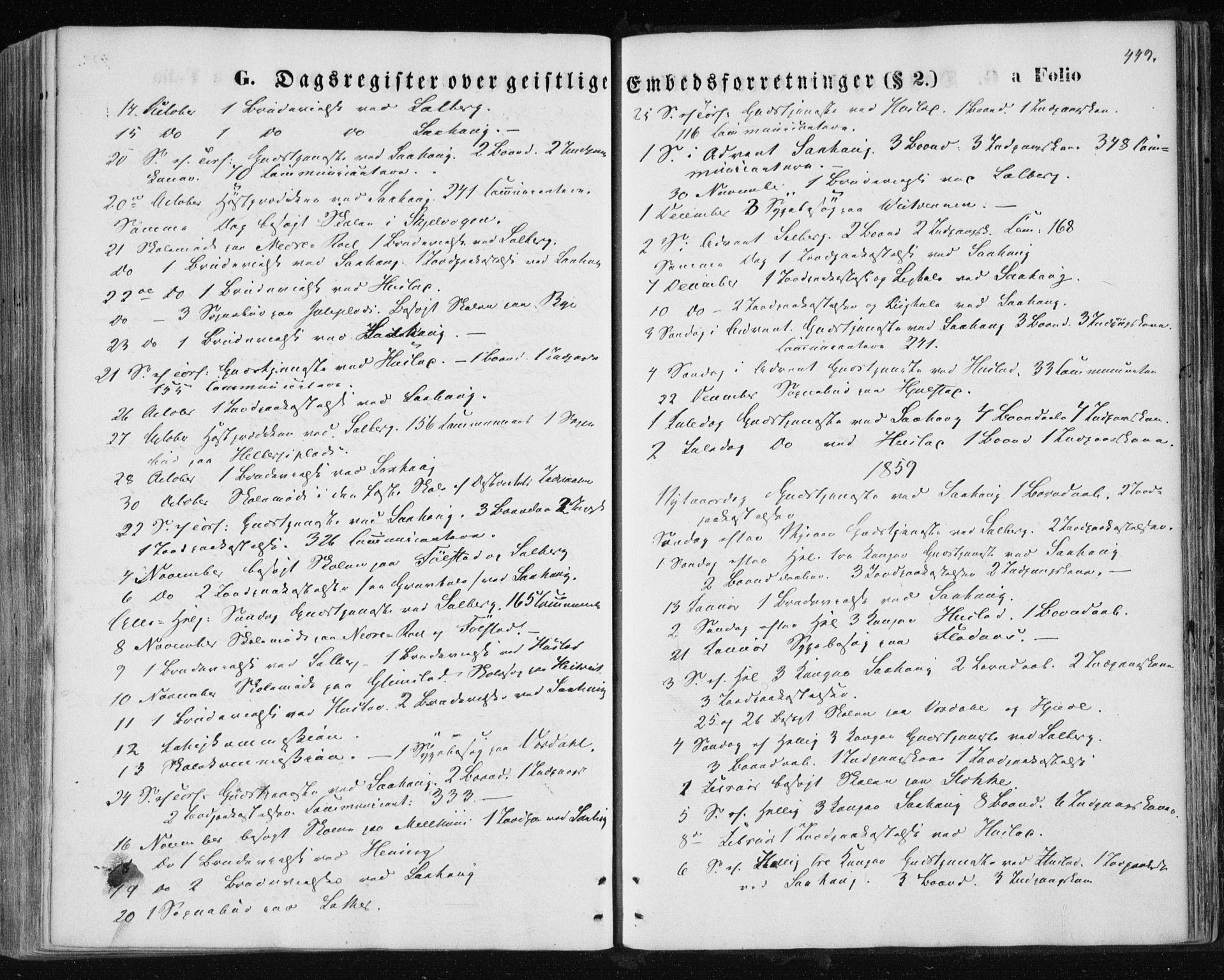 SAT, Ministerialprotokoller, klokkerbøker og fødselsregistre - Nord-Trøndelag, 730/L0283: Ministerialbok nr. 730A08, 1855-1865, s. 449