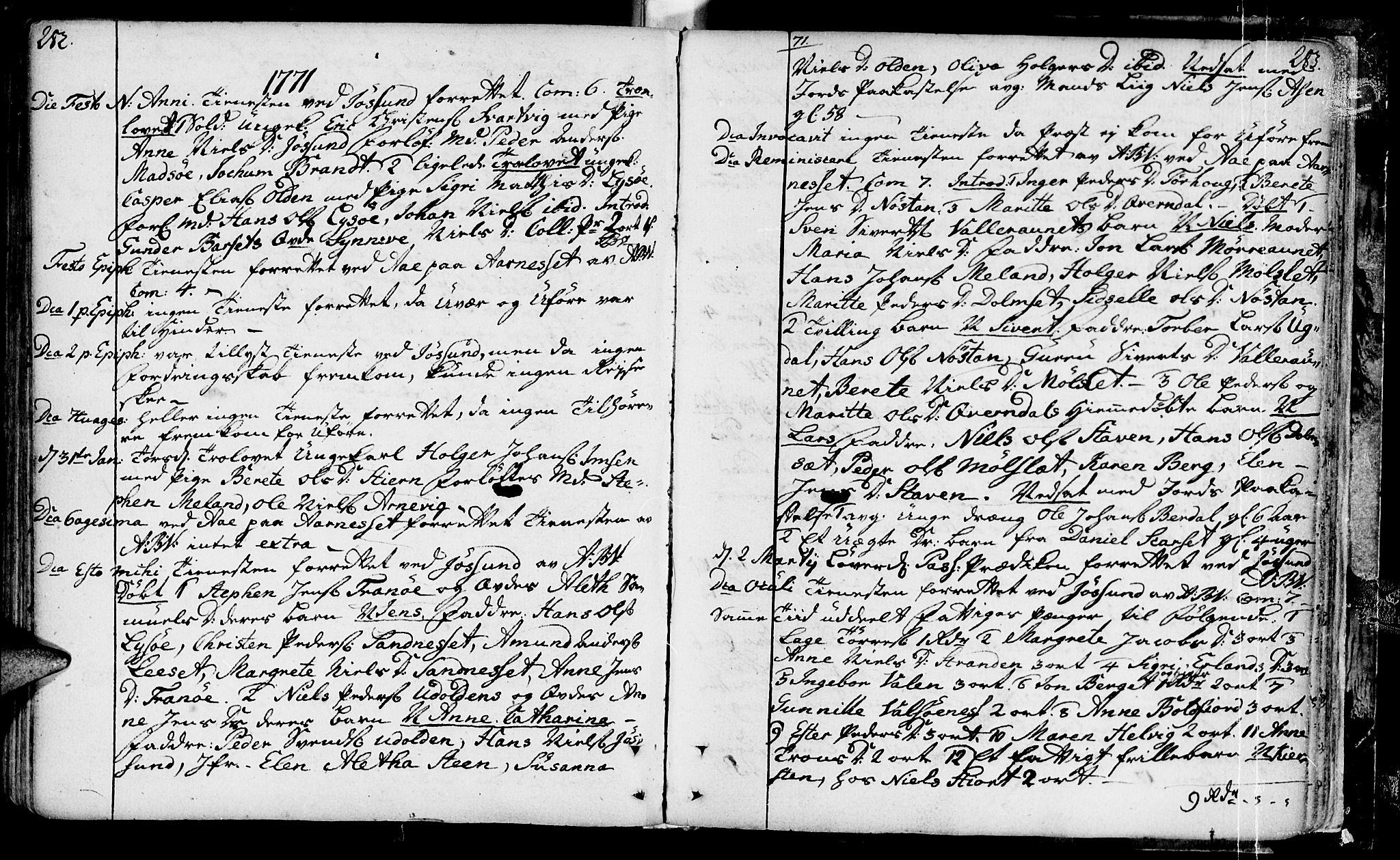 SAT, Ministerialprotokoller, klokkerbøker og fødselsregistre - Sør-Trøndelag, 655/L0672: Ministerialbok nr. 655A01, 1750-1779, s. 282-283
