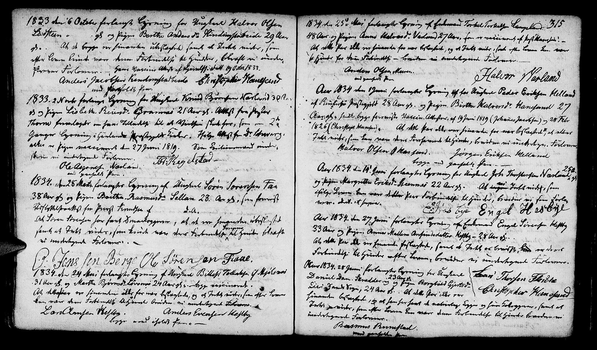 SAST, Finnøy sokneprestkontor, H/Ha/Haa/L0005: Ministerialbok nr. A 5, 1773-1816, s. 315