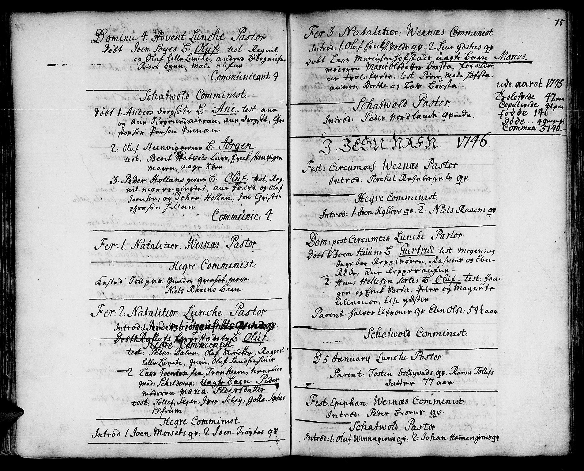 SAT, Ministerialprotokoller, klokkerbøker og fødselsregistre - Nord-Trøndelag, 709/L0056: Ministerialbok nr. 709A04, 1740-1756, s. 75