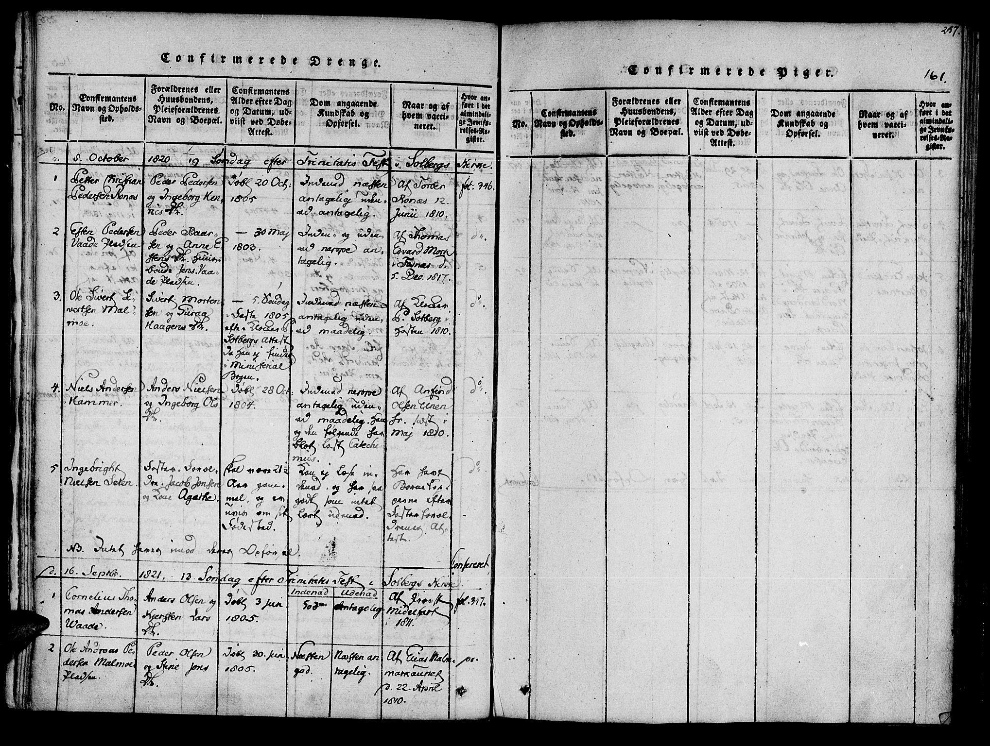 SAT, Ministerialprotokoller, klokkerbøker og fødselsregistre - Nord-Trøndelag, 741/L0387: Ministerialbok nr. 741A03 /2, 1817-1822, s. 161