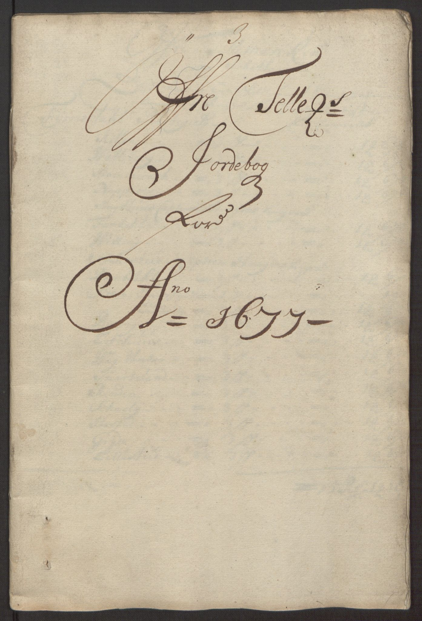 RA, Rentekammeret inntil 1814, Reviderte regnskaper, Fogderegnskap, R35/L2067: Fogderegnskap Øvre og Nedre Telemark, 1677, s. 3