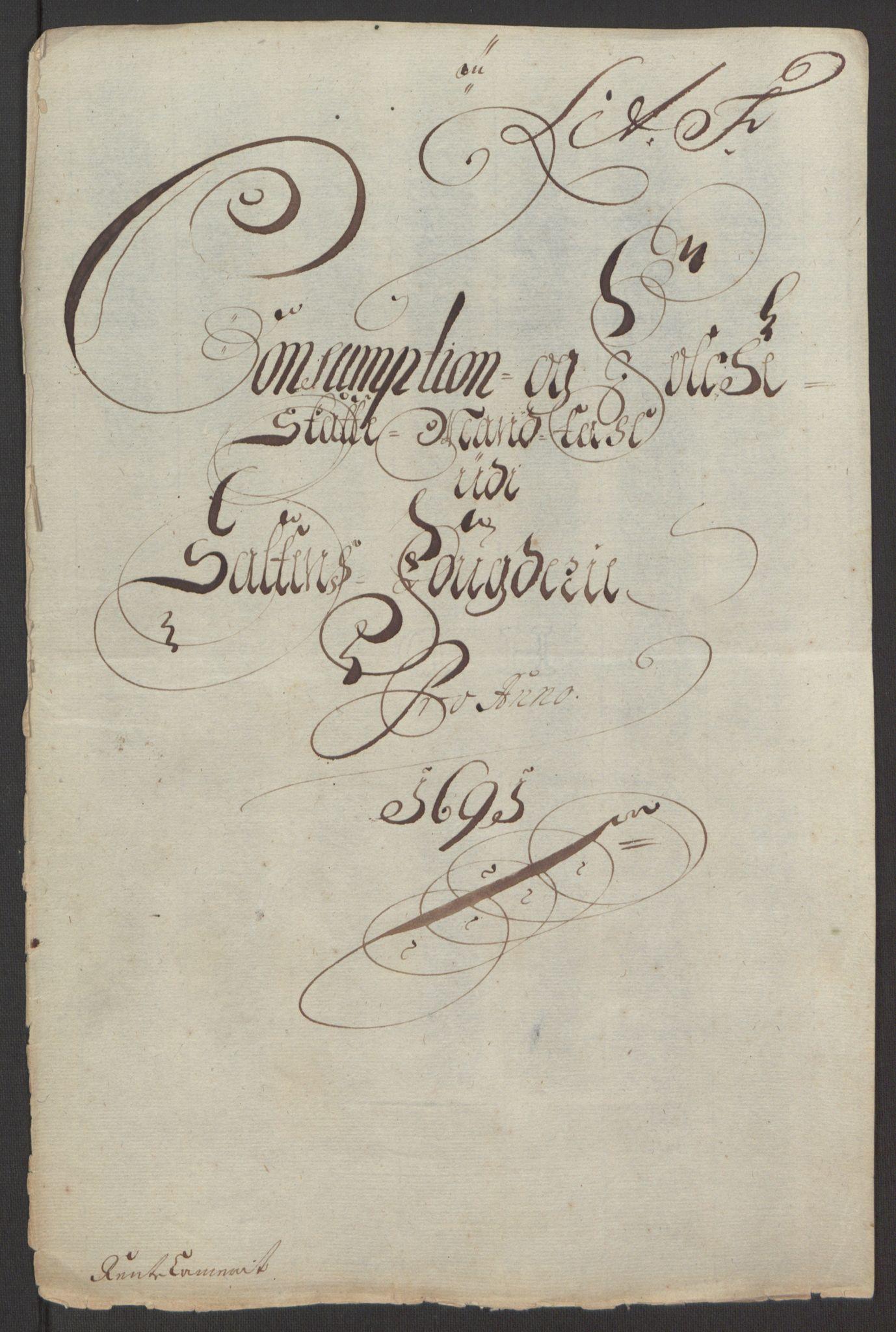 RA, Rentekammeret inntil 1814, Reviderte regnskaper, Fogderegnskap, R66/L4577: Fogderegnskap Salten, 1691-1693, s. 60