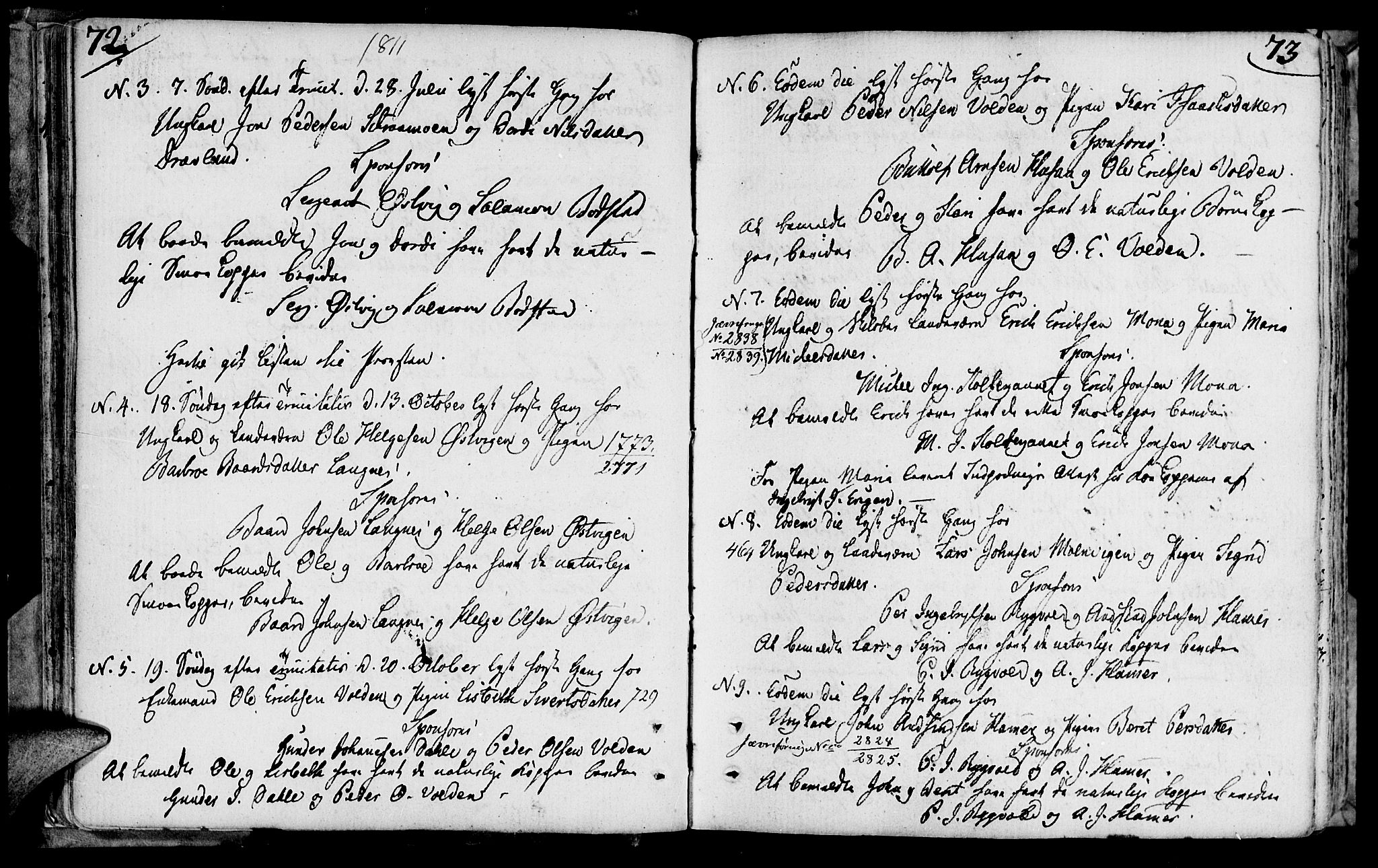 SAT, Ministerialprotokoller, klokkerbøker og fødselsregistre - Nord-Trøndelag, 749/L0468: Ministerialbok nr. 749A02, 1787-1817, s. 72-73