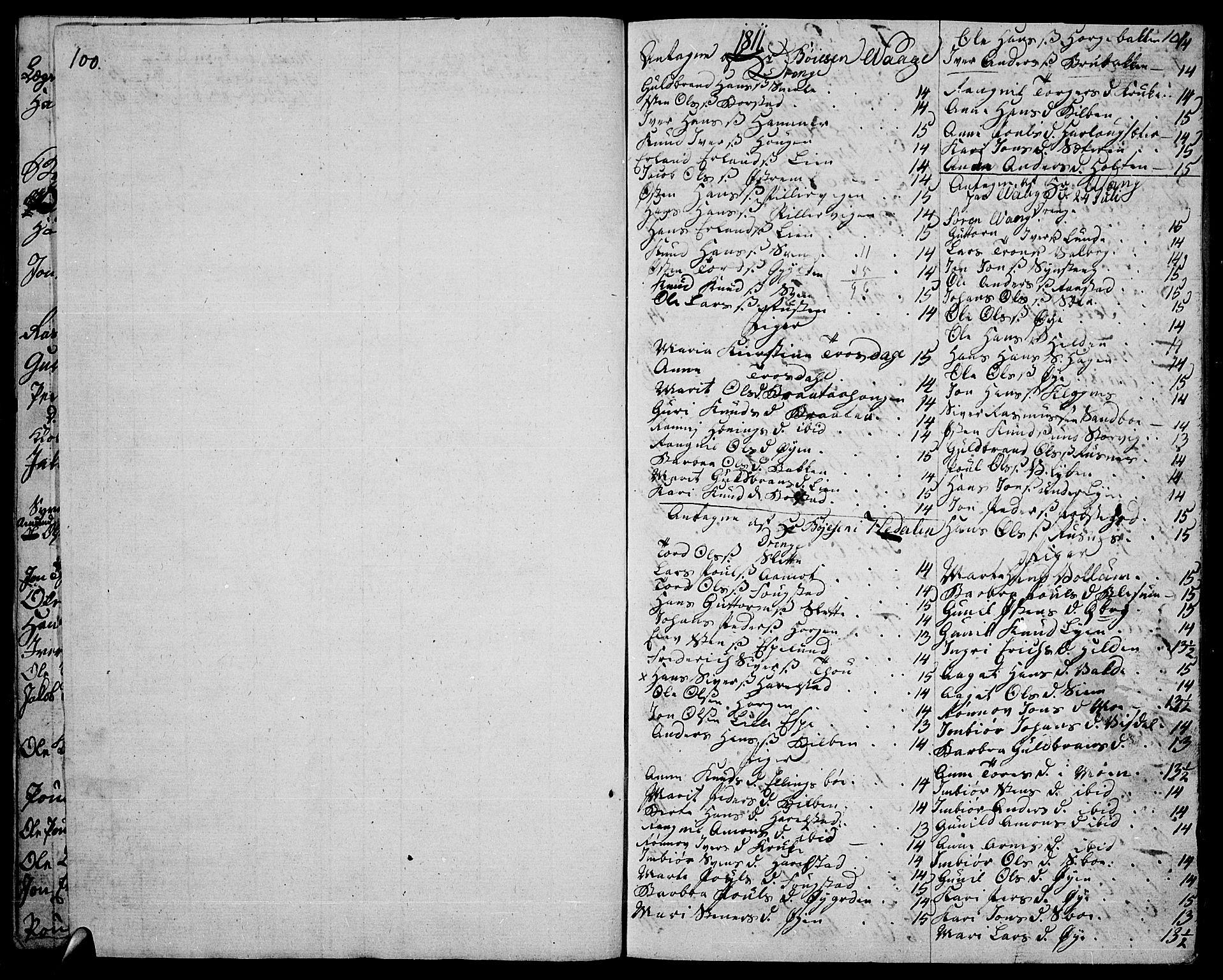 SAH, Vågå prestekontor, Ministerialbok nr. 2, 1810-1815, s. 100-101