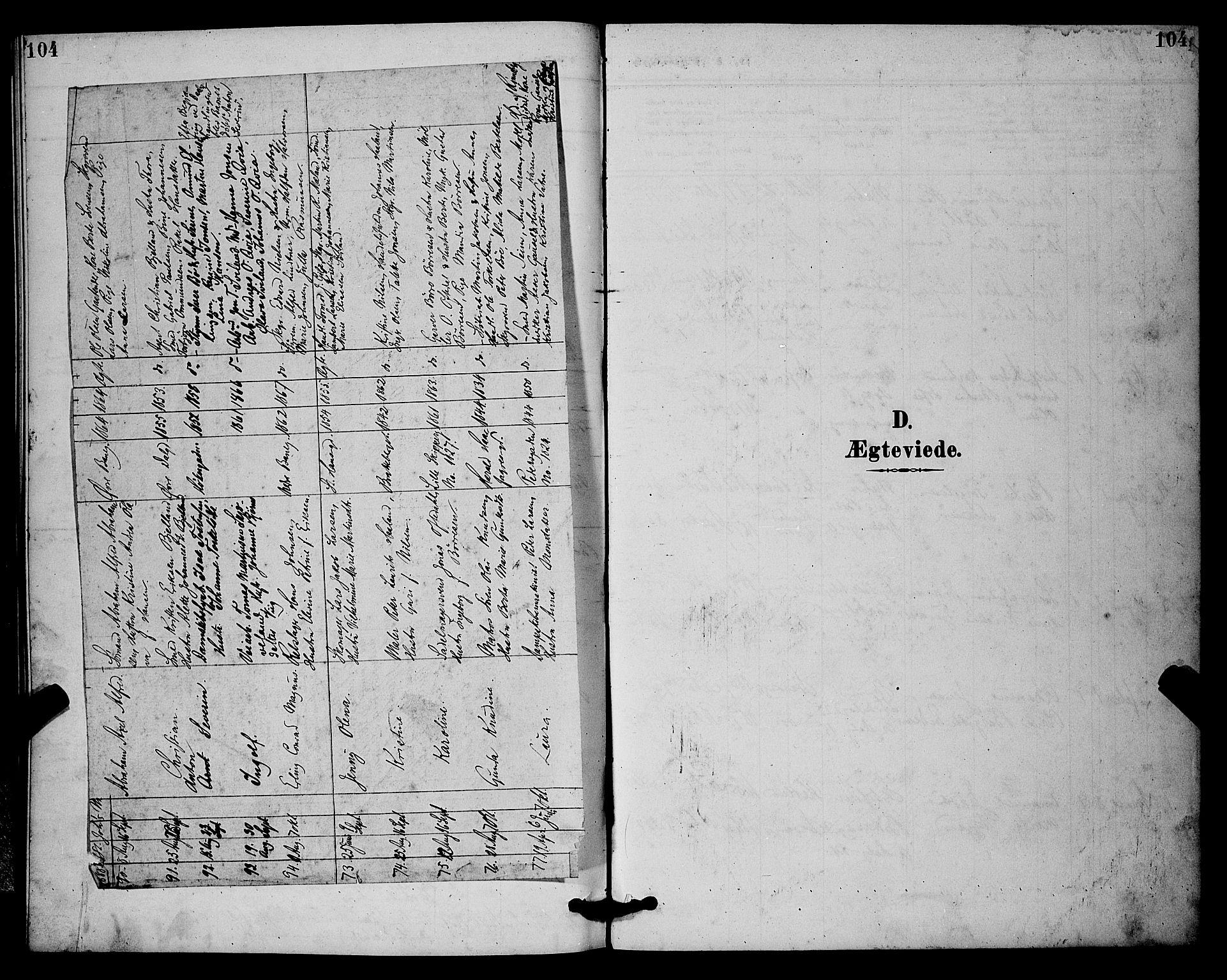 SAST, St. Johannes sokneprestkontor, 30/30BB: Klokkerbok nr. B 2, 1888-1901, s. 104