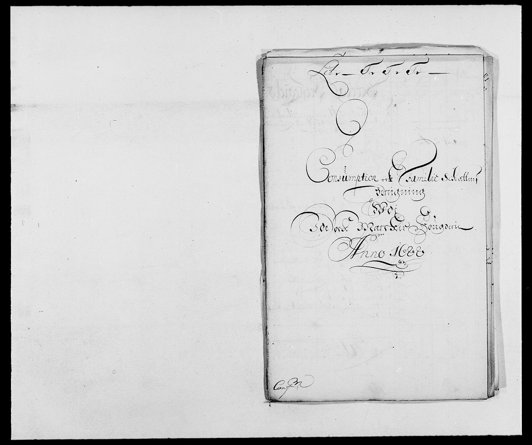 RA, Rentekammeret inntil 1814, Reviderte regnskaper, Fogderegnskap, R01/L0007: Fogderegnskap Idd og Marker, 1687-1688, s. 312