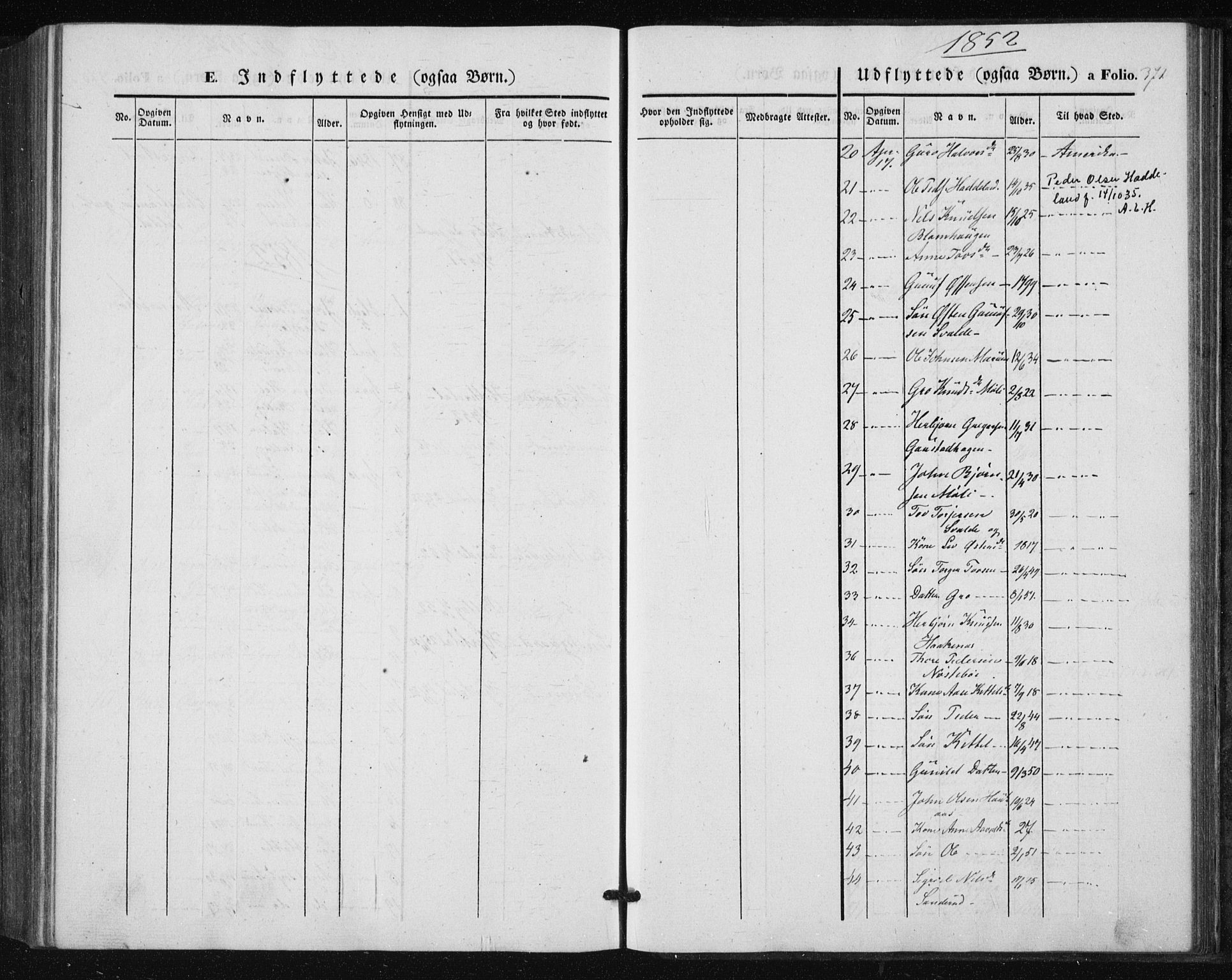 SAKO, Tinn kirkebøker, F/Fa/L0005: Ministerialbok nr. I 5, 1844-1856, s. 371