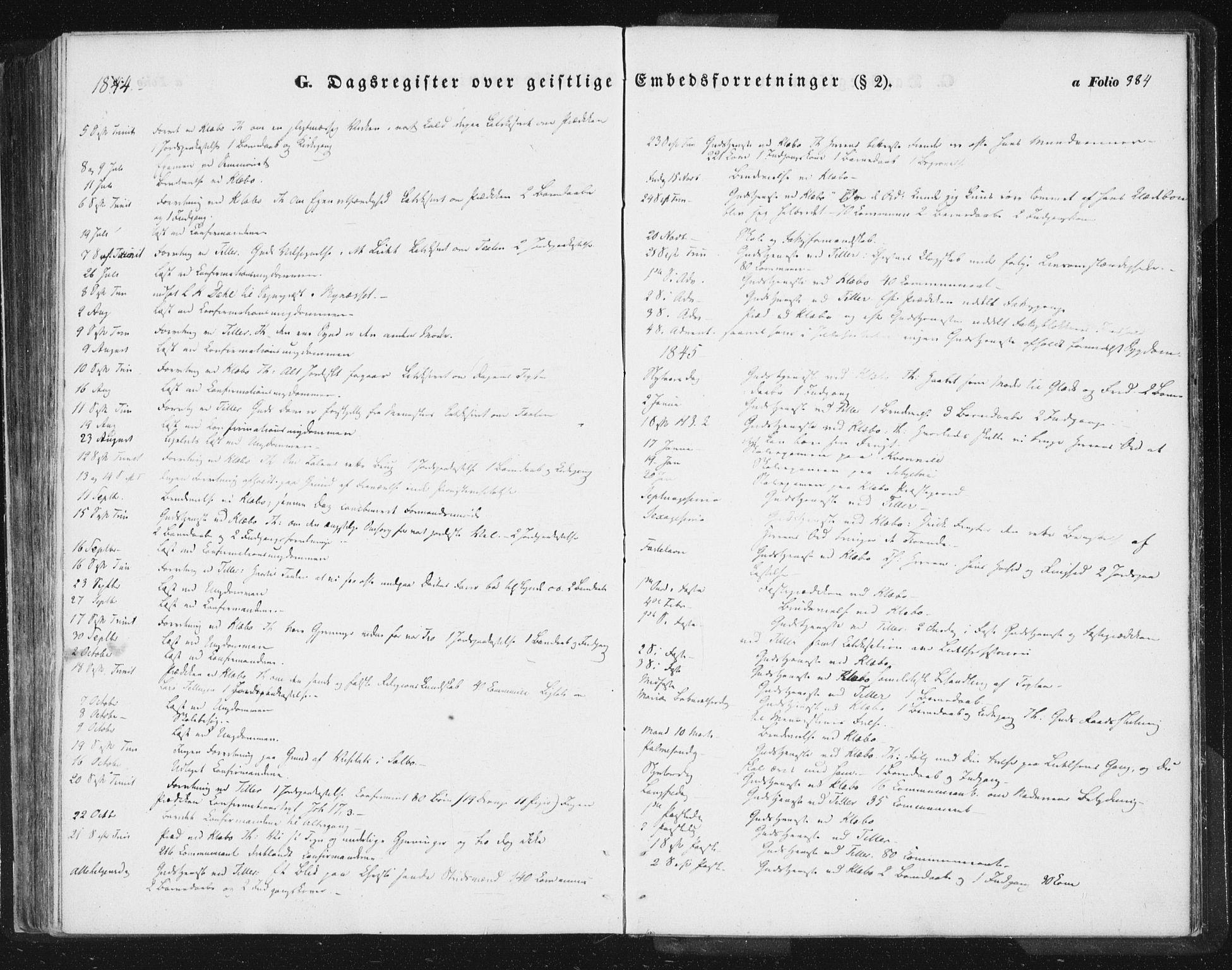 SAT, Ministerialprotokoller, klokkerbøker og fødselsregistre - Sør-Trøndelag, 618/L0441: Ministerialbok nr. 618A05, 1843-1862, s. 384