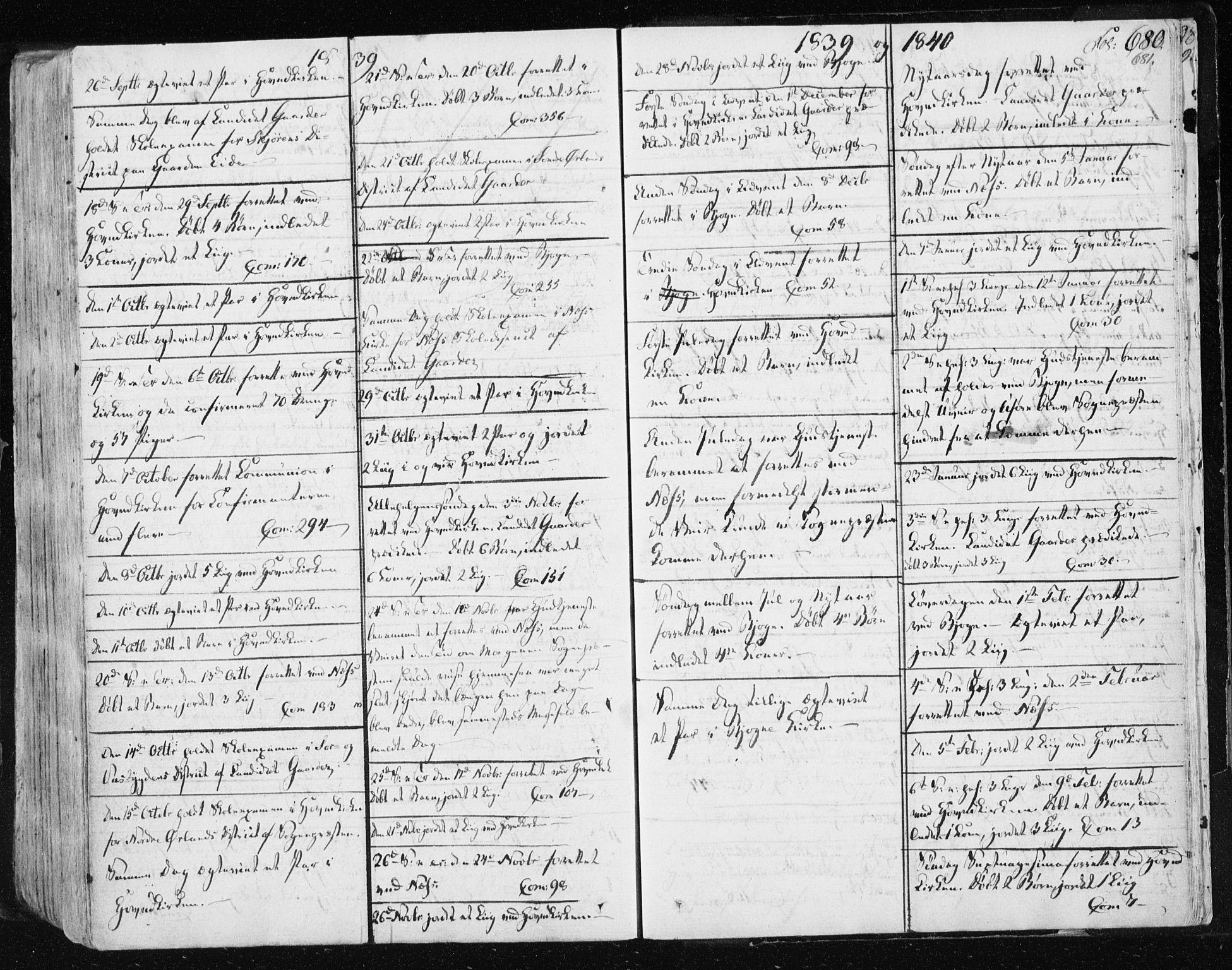 SAT, Ministerialprotokoller, klokkerbøker og fødselsregistre - Sør-Trøndelag, 659/L0735: Ministerialbok nr. 659A05, 1826-1841, s. 680