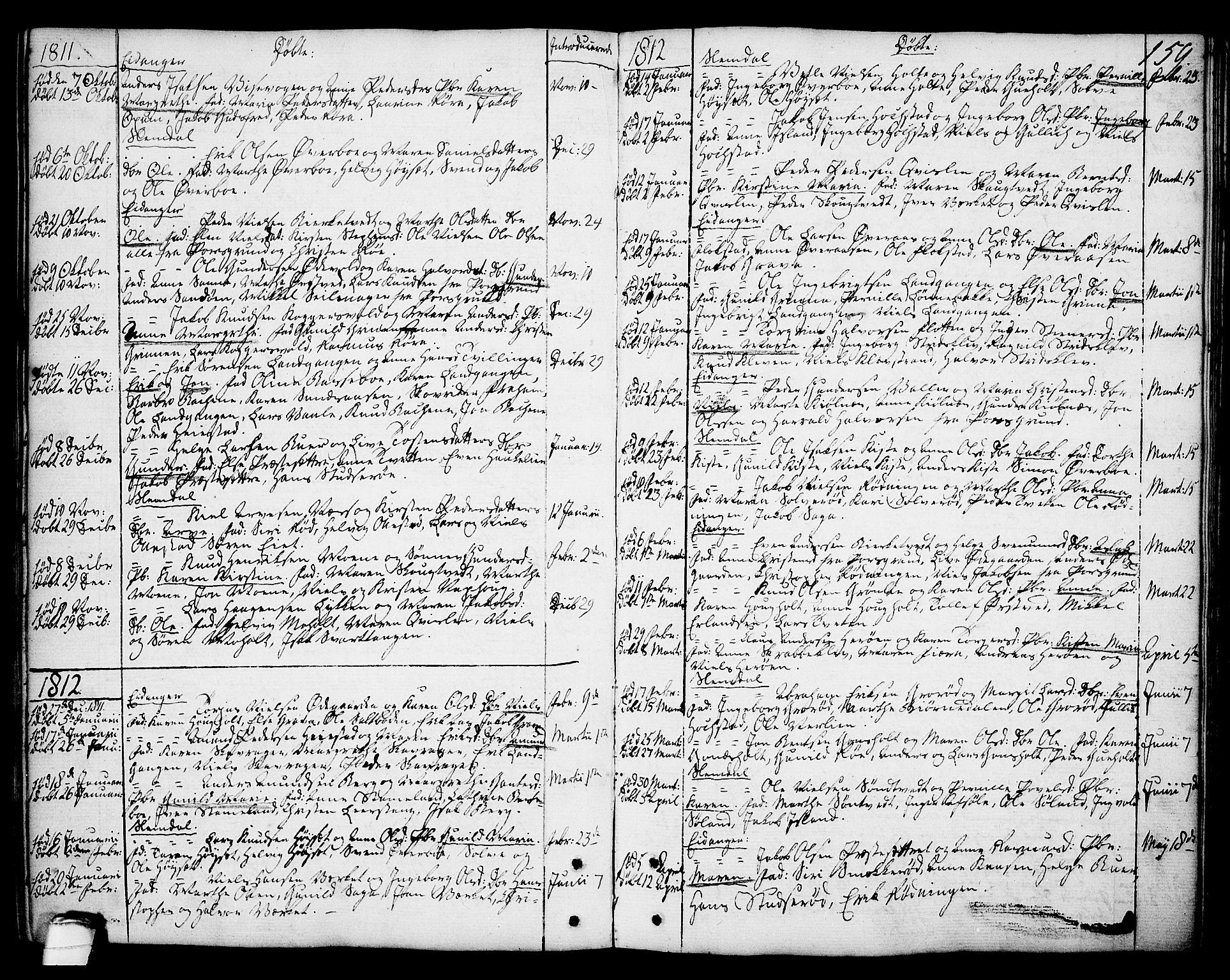 SAKO, Eidanger kirkebøker, F/Fa/L0006: Ministerialbok nr. 6, 1764-1814, s. 159