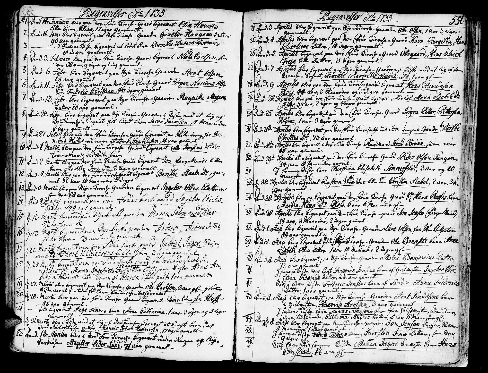 SAT, Ministerialprotokoller, klokkerbøker og fødselsregistre - Sør-Trøndelag, 602/L0103: Ministerialbok nr. 602A01, 1732-1774, s. 556