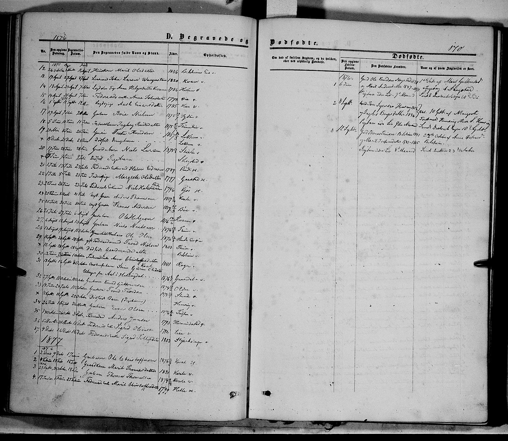 SAH, Vang prestekontor, Valdres, Ministerialbok nr. 7, 1865-1881, s. 170