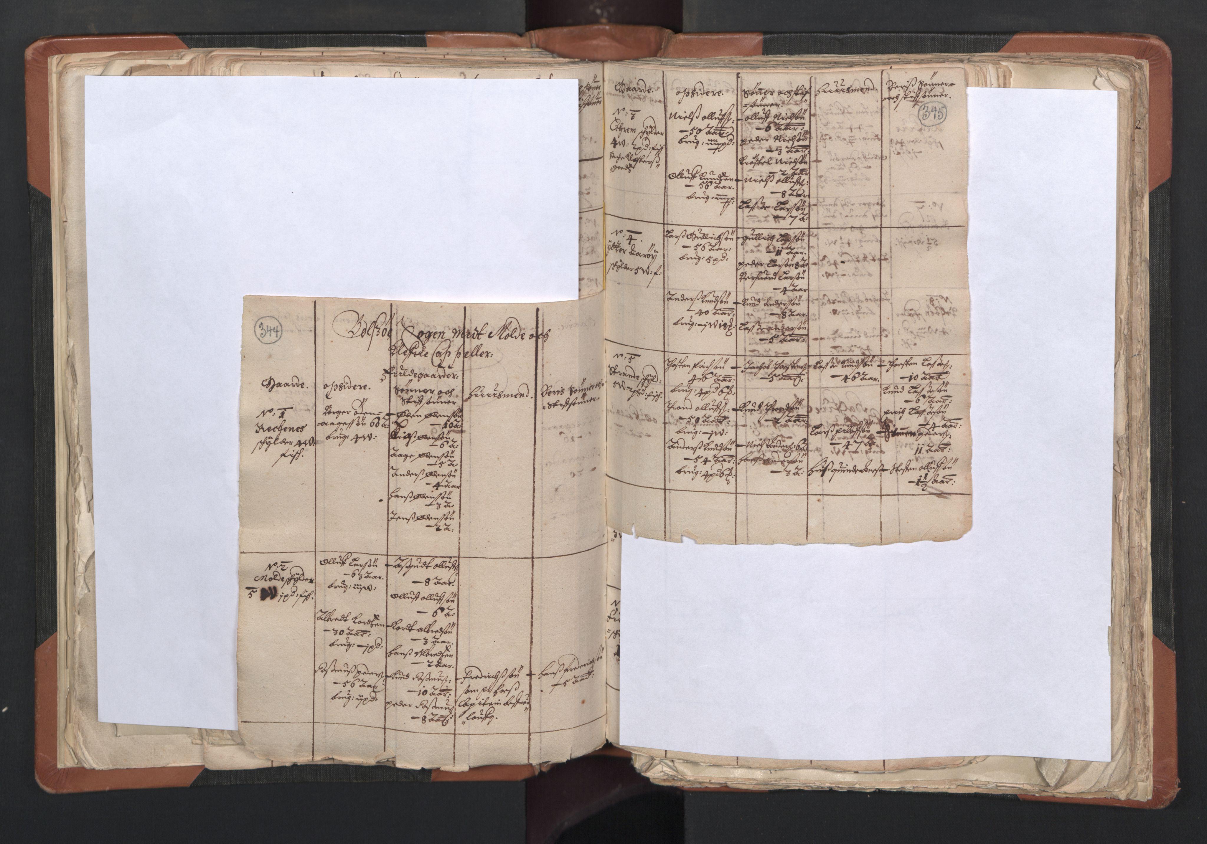RA, Sogneprestenes manntall 1664-1666, nr. 27: Romsdal prosti, 1664-1666, s. 344-345